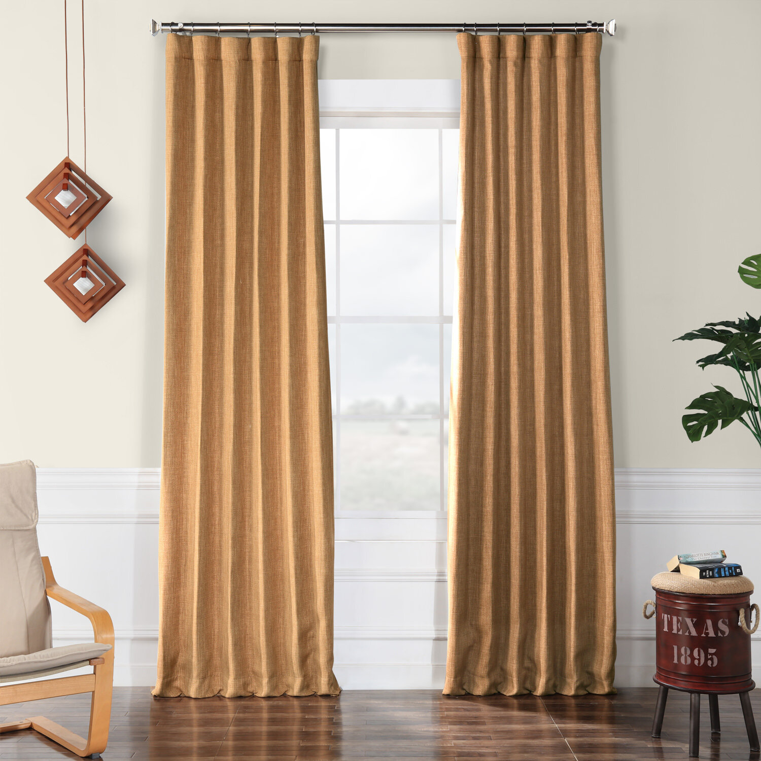 Clem Blackout Rod Pocket Single Curtain Panel & Reviews Inside Faux Linen Extra Wide Blackout Curtains (View 19 of 20)