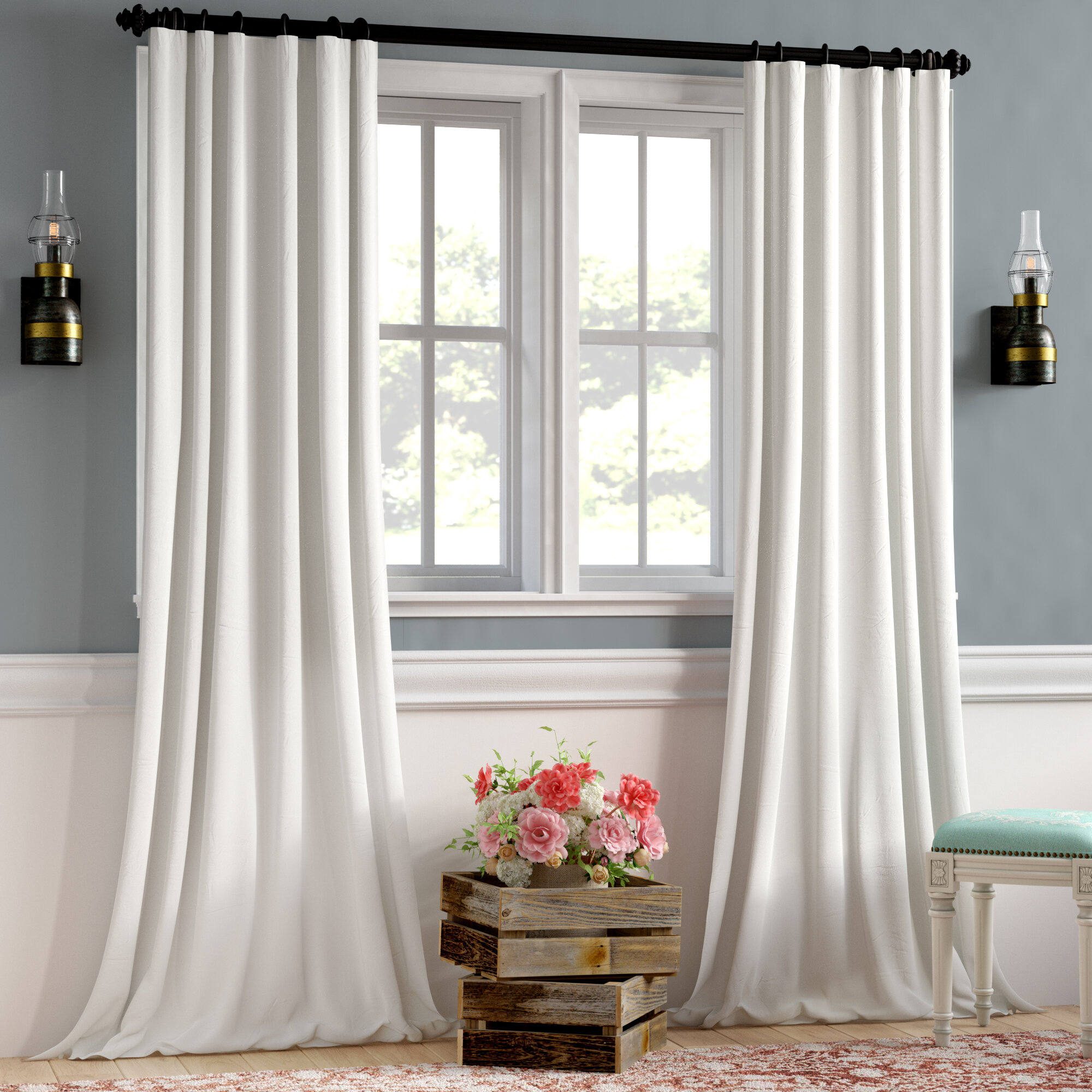 Clem Faux Linen Blackout Single Curtain Panel For Faux Linen Blackout Curtains (View 5 of 20)