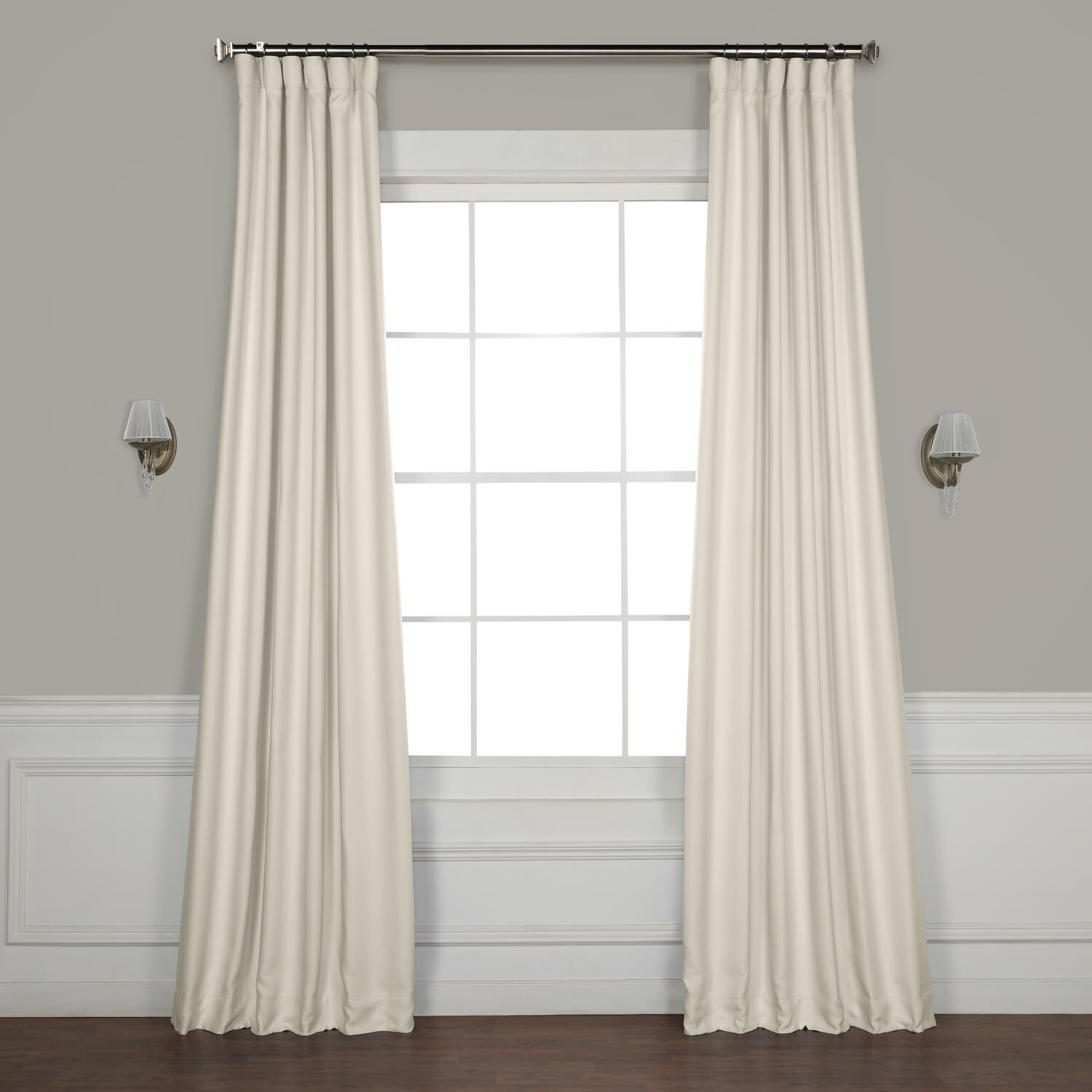 Clem Faux Linen Room Darkening Rod Pocket Single Curtain Panel Inside Ombre Faux Linen Semi Sheer Curtains (View 14 of 20)