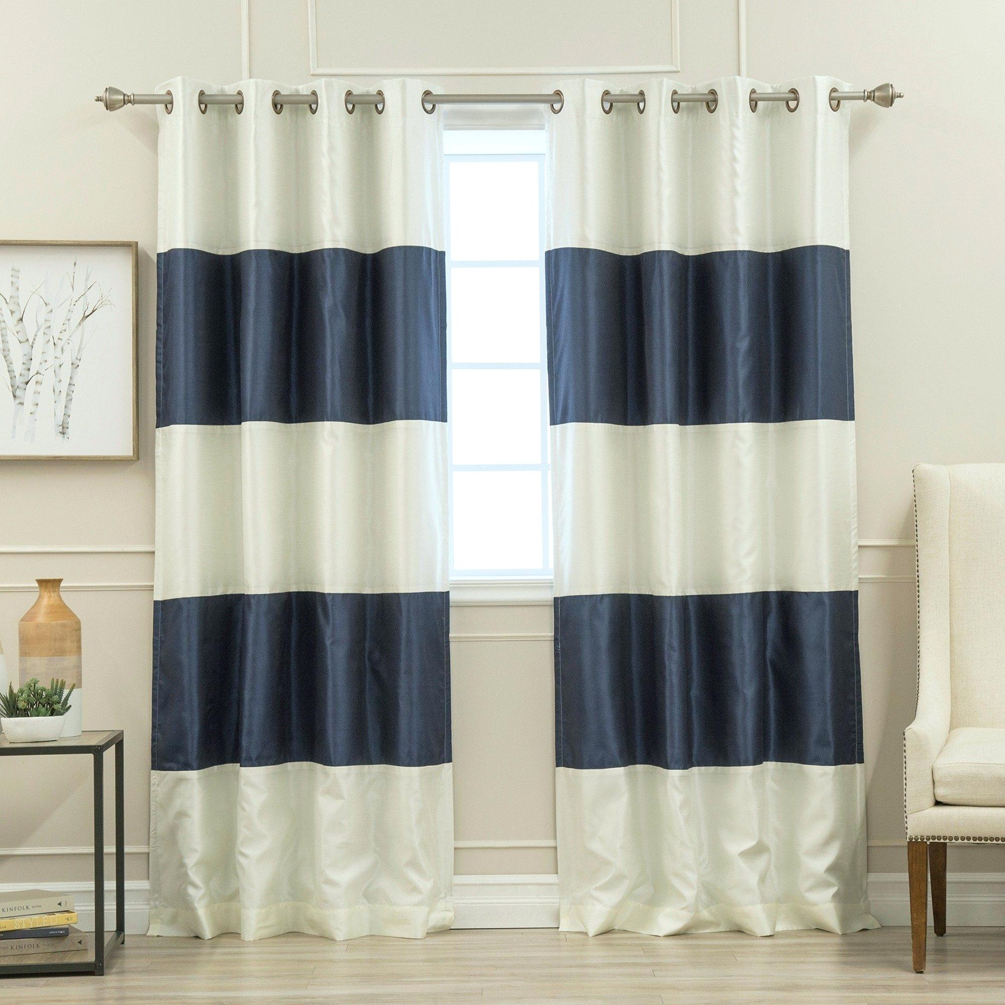 Coastal Curtains And Drapes – Reginemeitan Intended For Ocean Striped Window Curtain Panel Pairs With Grommet Top (View 13 of 20)