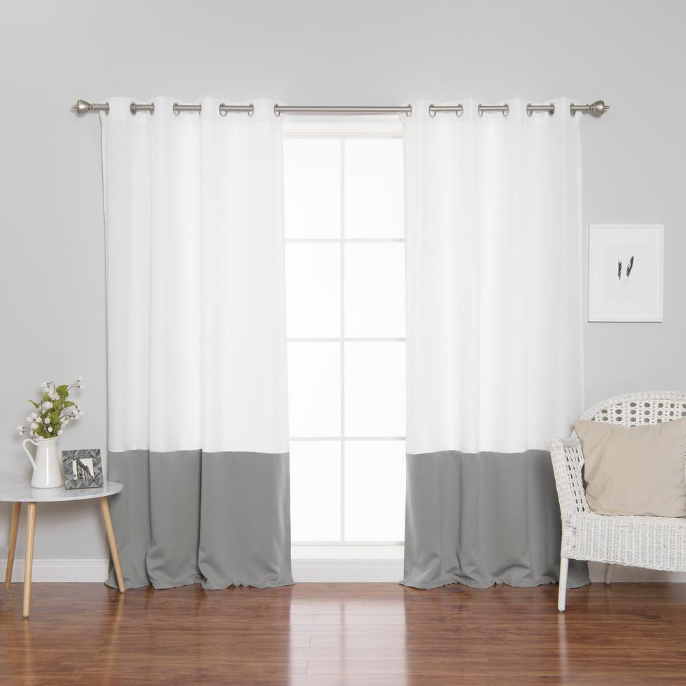 Color Block Curtains – Easy Home Decorating Ideas Regarding Vertical Colorblock Panama Curtains (View 24 of 30)
