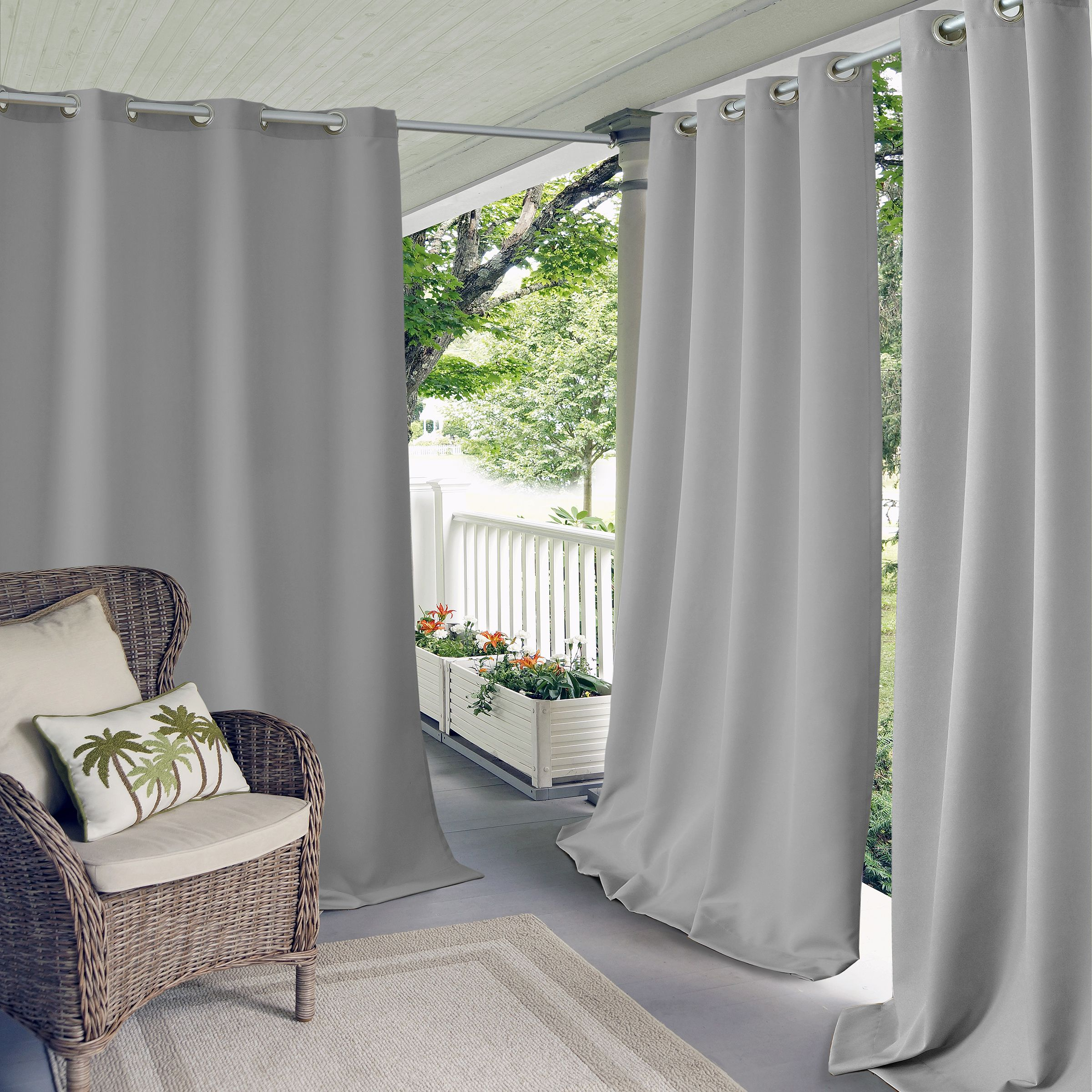 Connor Solid Grommet Top Indoor/outdoor Window Curtain In With Regard To Davis Patio Grommet Top Single Curtain Panels (View 14 of 20)