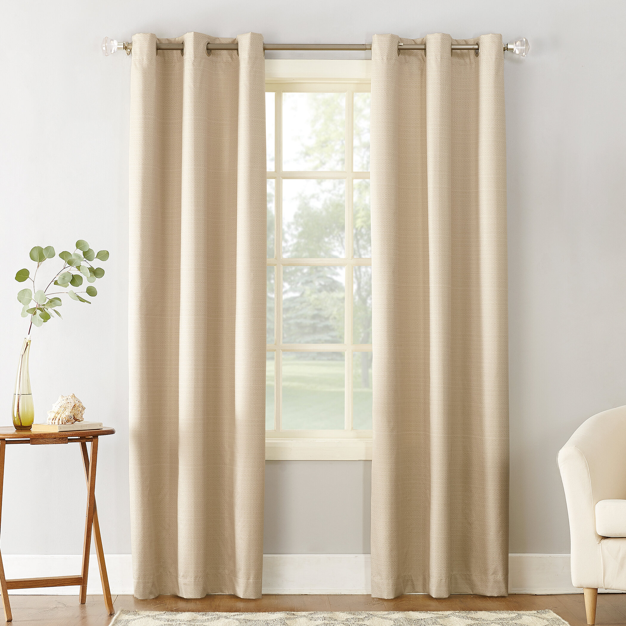 Cooper Textured Solid Room Darkening Thermal Insulated Grommet Single Curtain Panel Within Cooper Textured Thermal Insulated Grommet Curtain Panels (View 4 of 20)