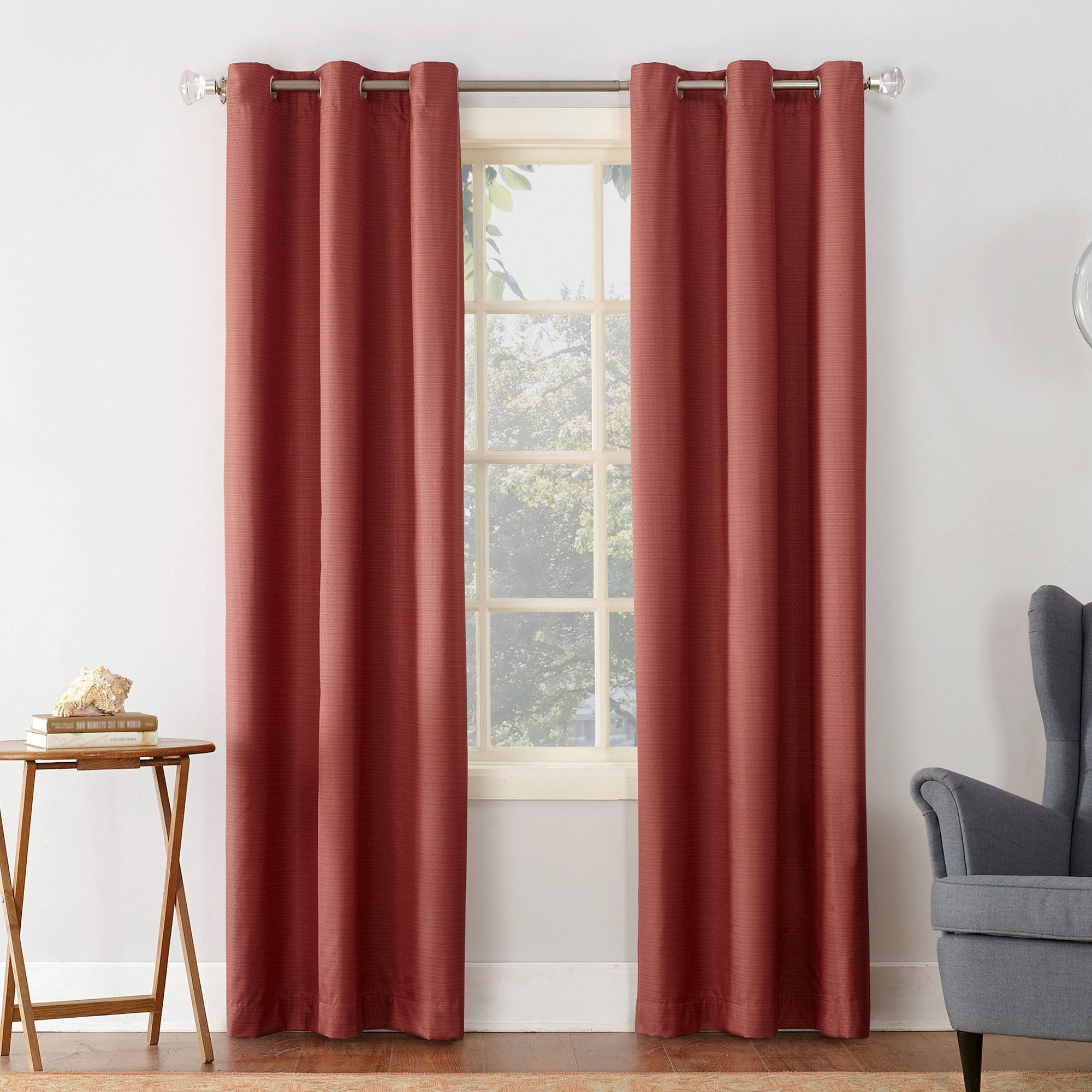 Cooper Textured Thermal Insulated Grommet Curtain Panel Gray Within Copper Grove Speedwell Grommet Window Curtain Panels (View 1 of 20)