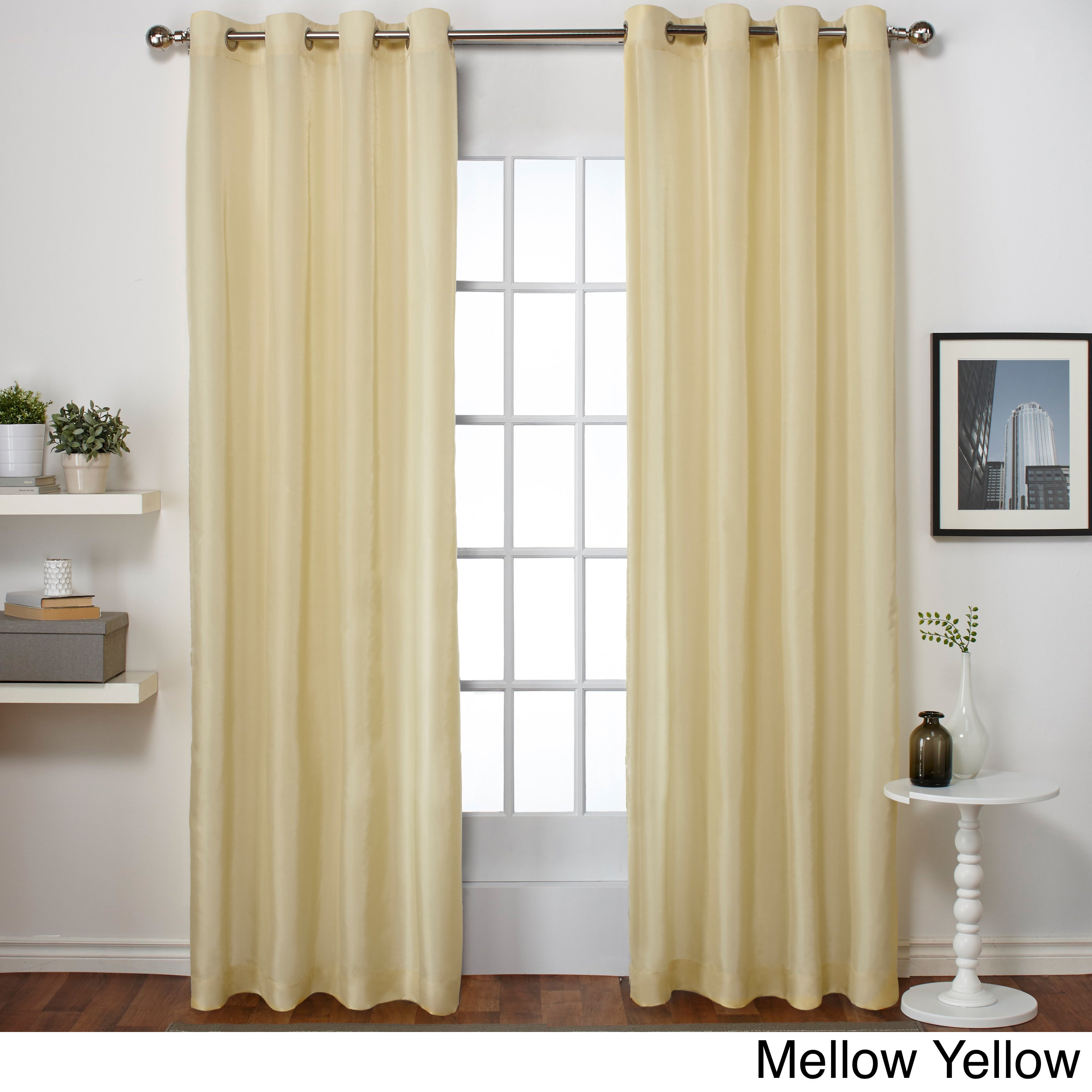 "Copper Grove Fulgence Faux Silk Grommet Top Panel Curtains – 96"" In Teal (as Is Item) With Copper Grove Fulgence Faux Silk Grommet Top Panel Curtains (View 9 of 20)"