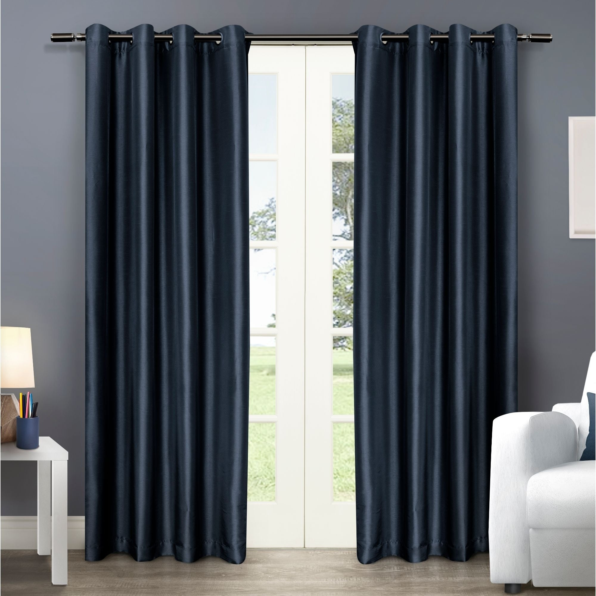 Copper Grove Fulgence Faux Silk Grommet Top Panel Curtains – N/ A In Copper Grove Fulgence Faux Silk Grommet Top Panel Curtains (View 3 of 20)