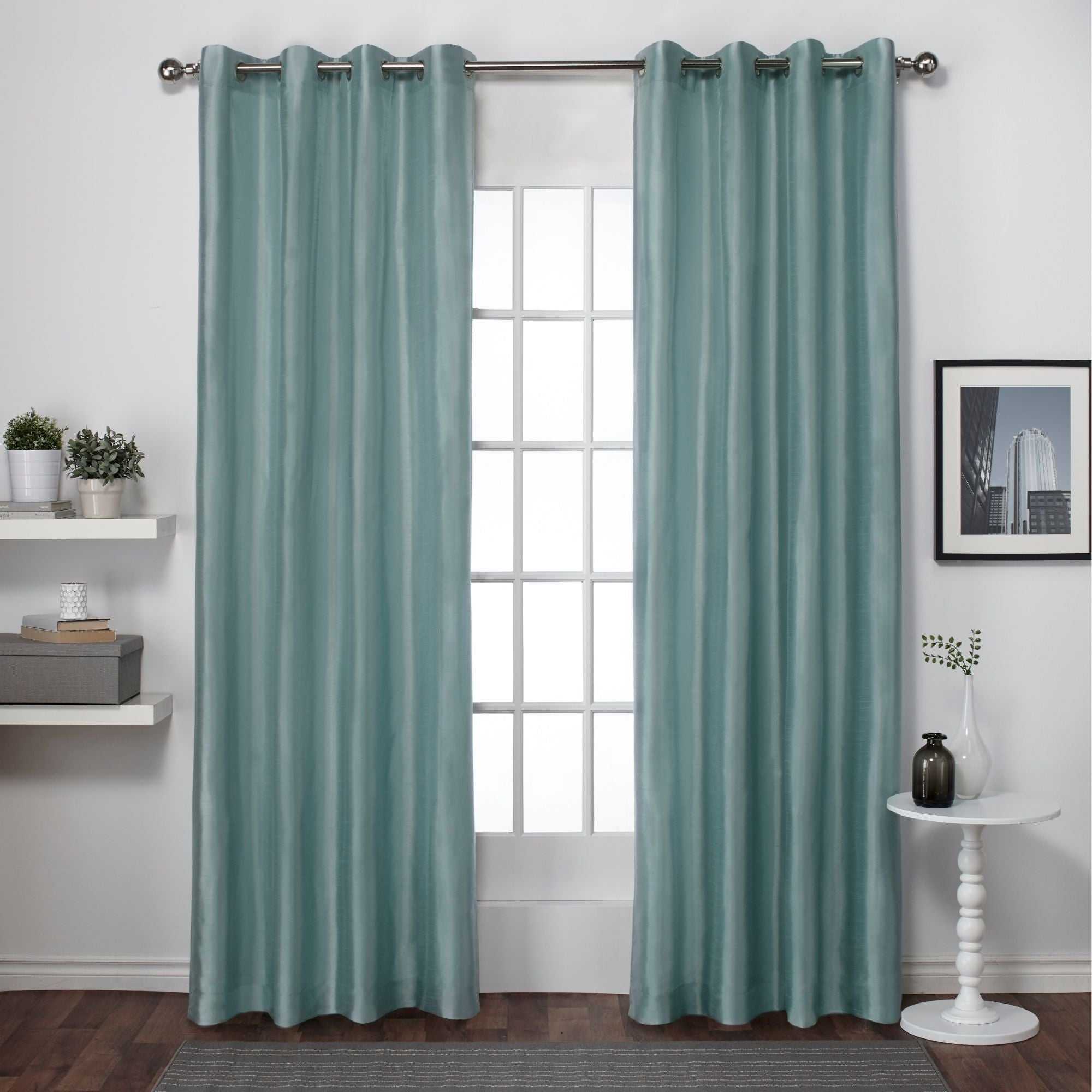 Copper Grove Fulgence Faux Silk Grommet Top Panel Curtains – N/ A Inside Copper Grove Fulgence Faux Silk Grommet Top Panel Curtains (View 2 of 20)