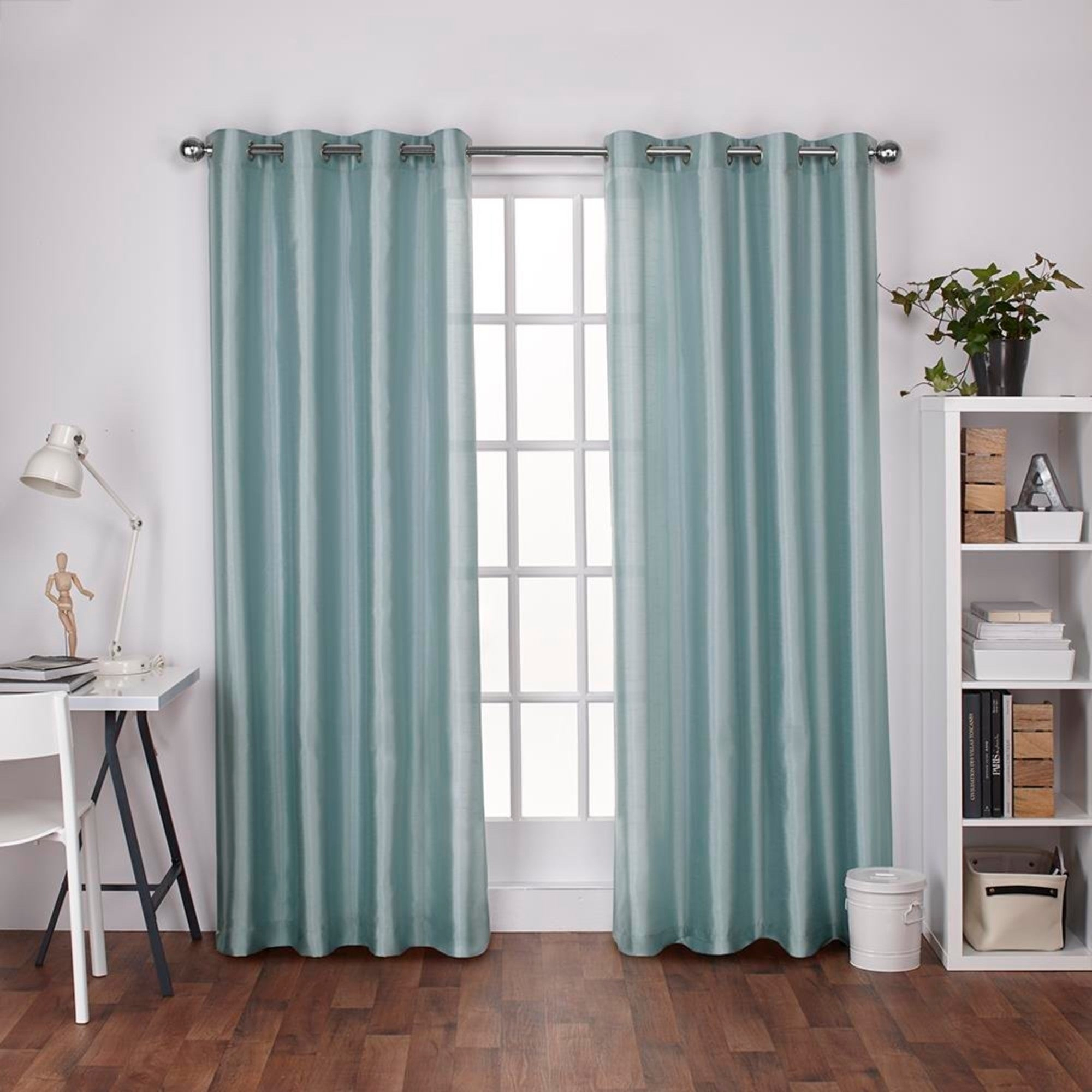Copper Grove Fulgence Faux Silk Grommet Top Panel Curtains – N/ A Throughout Copper Grove Fulgence Faux Silk Grommet Top Panel Curtains (View 8 of 20)