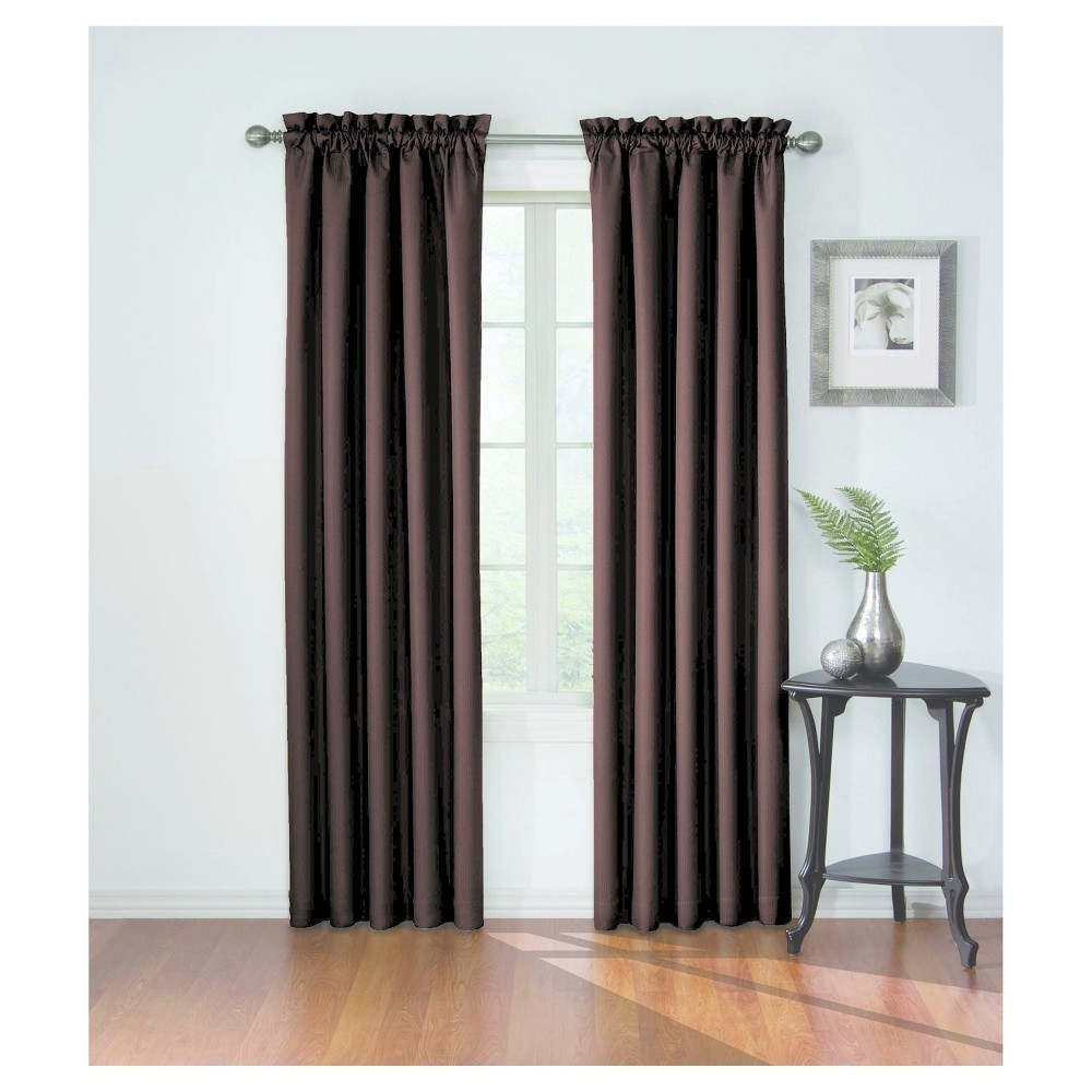 """Corinne Blackout Curtain Brown (42""""x84"""") – Eclipse Within Eclipse Corinne Thermaback Curtain Panels (View 7 of 20)"""