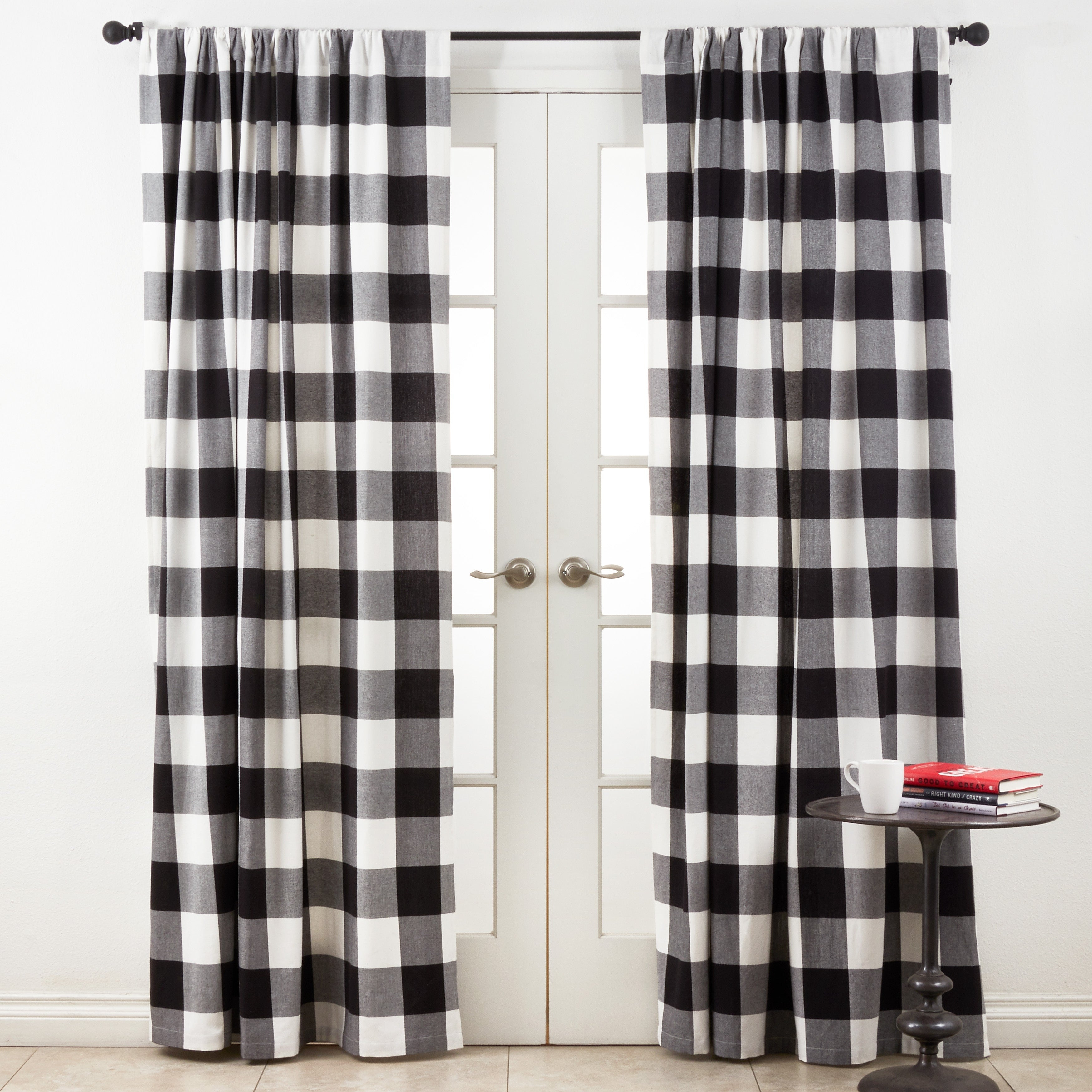 Cotton Buffalo Plaid Curtains With Grainger Buffalo Check Blackout Window Curtains (View 6 of 20)