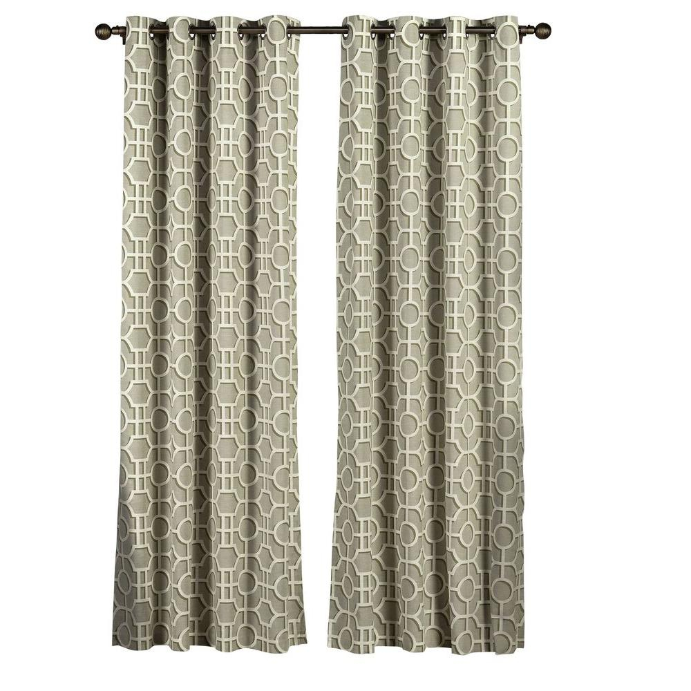 Creative Home Ideas Semi Opaque Lenox 100% Cotton Extra Wide With Knotted Tab Top Window Curtain Panel Pairs (View 17 of 20)