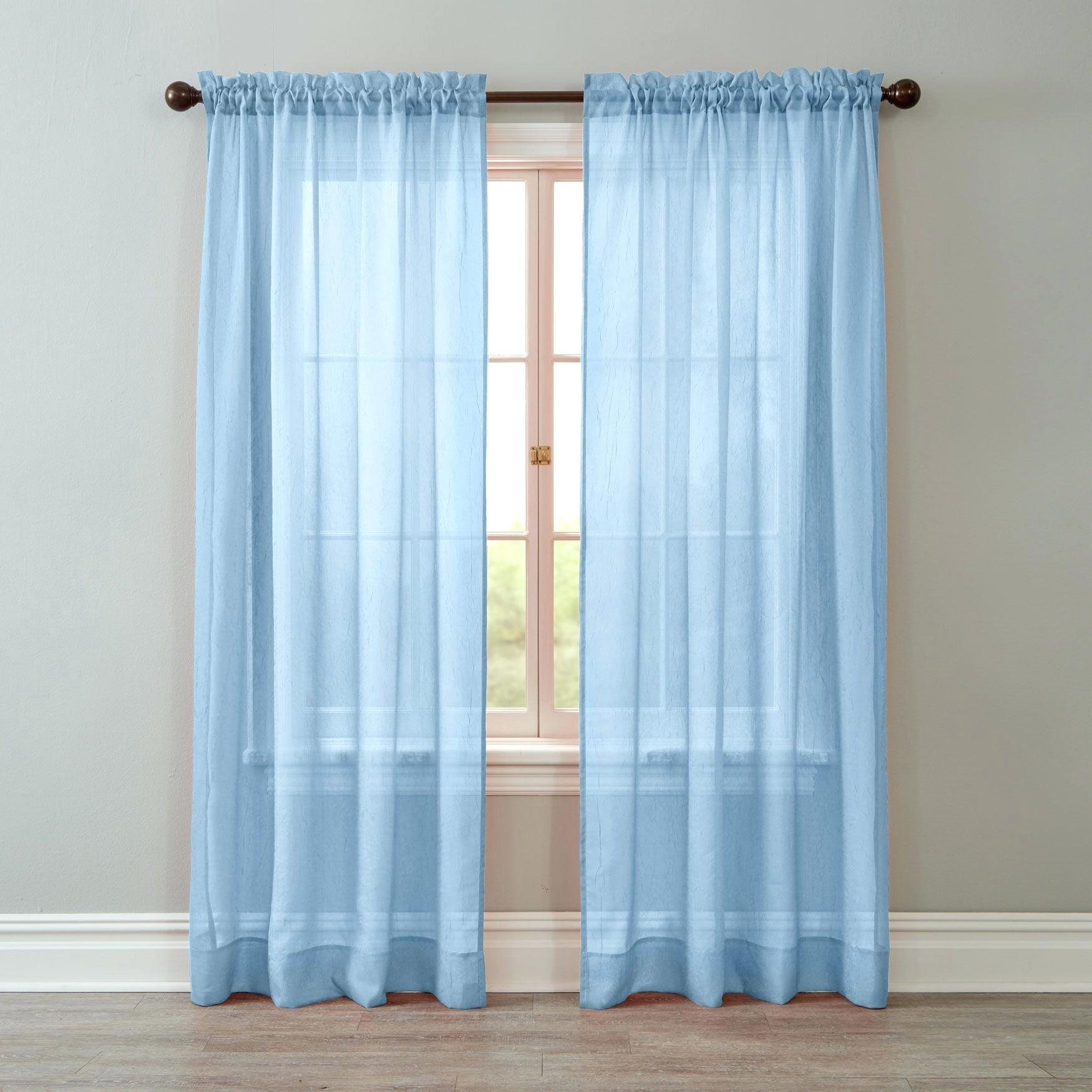Crushed Voile Curtains – Tehzeeb (View 14 of 20)