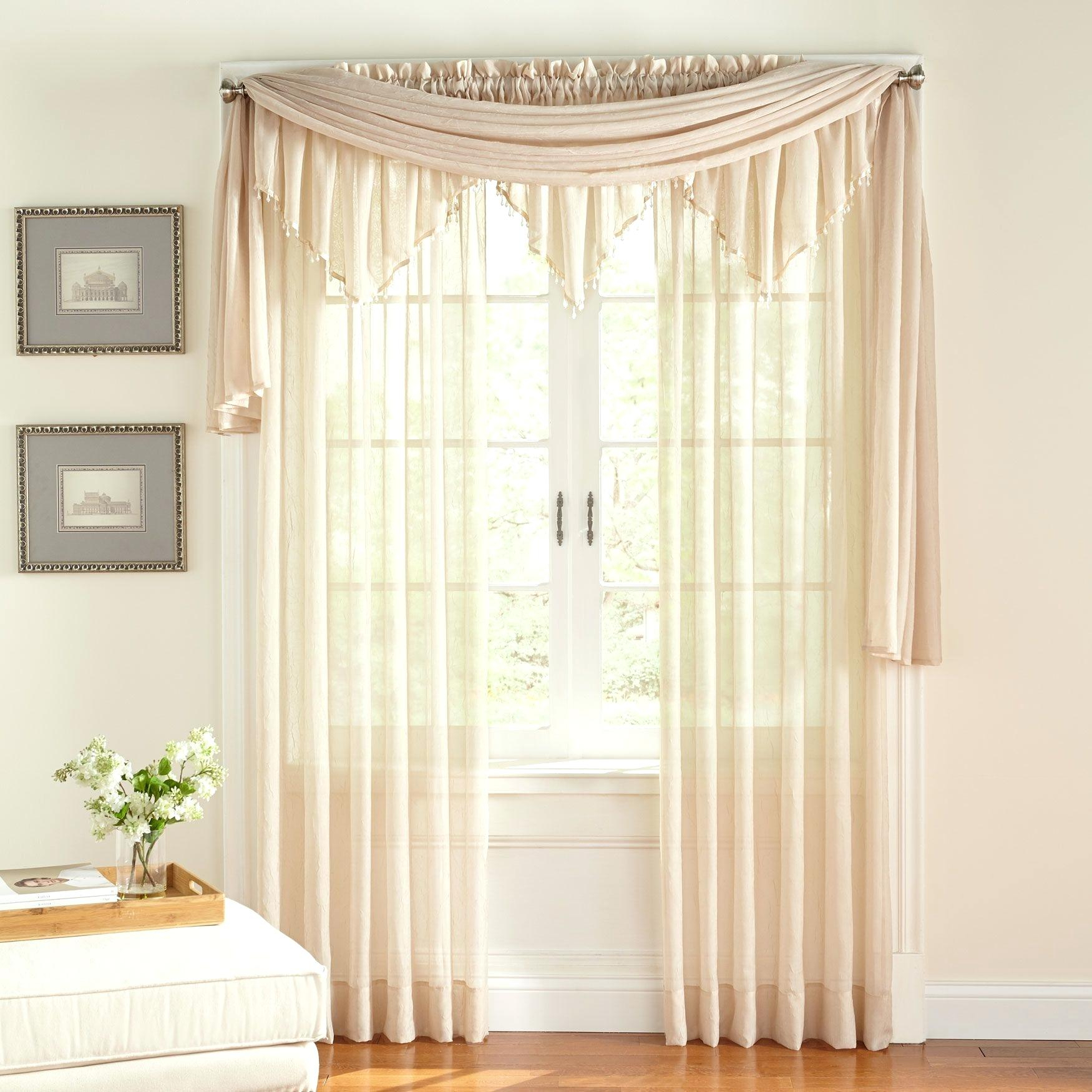 Crushed Voile Curtains – Wethepeopleoklahoma For Sheer Voile Ruffled Tier Window Curtain Panels (View 8 of 20)