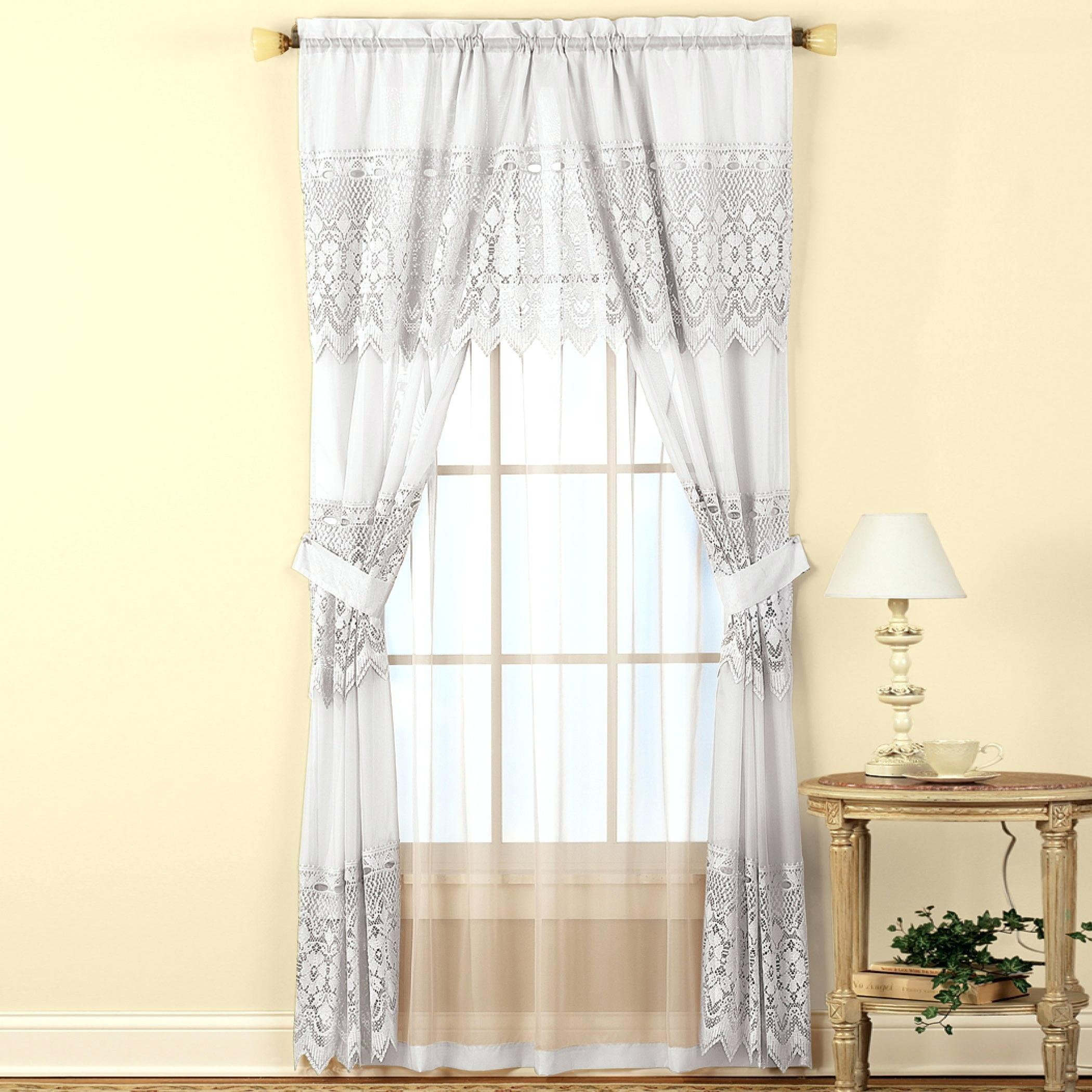 Curtain And Valance Set – Camtrai Pertaining To Tulle Sheer With Attached Valance And Blackout 4 Piece Curtain Panel Pairs (View 21 of 30)