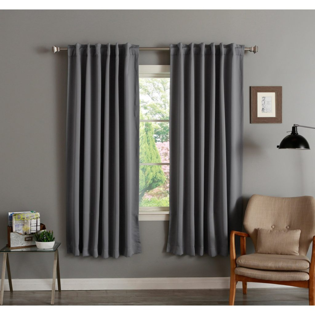 Curtain ~ Aurora Home Insulated Inch Thermal Blackout For Thermal Insulated Blackout Grommet Top Curtain Panel Pairs (View 21 of 30)