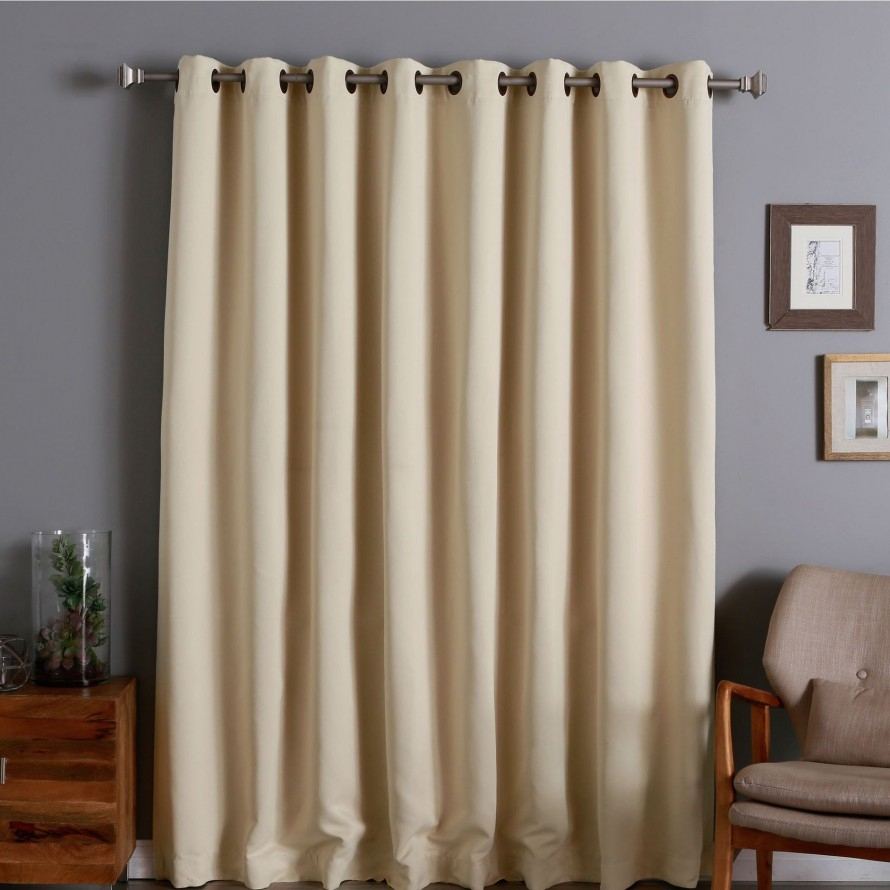 Curtain: Blackout Curtains 96 Inches Long For Cool Interior Within Solid Insulated Thermal Blackout Long Length Curtain Panel Pairs (View 14 of 30)
