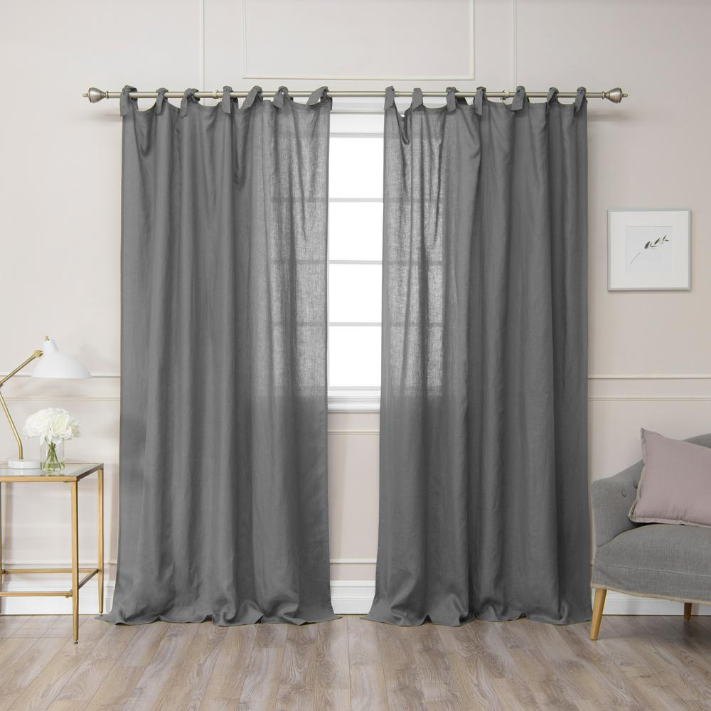 Curtain Panels With Tie Tops | Oh Decor Curtain In Elrene Jolie Tie Top Curtain Panels (View 19 of 20)