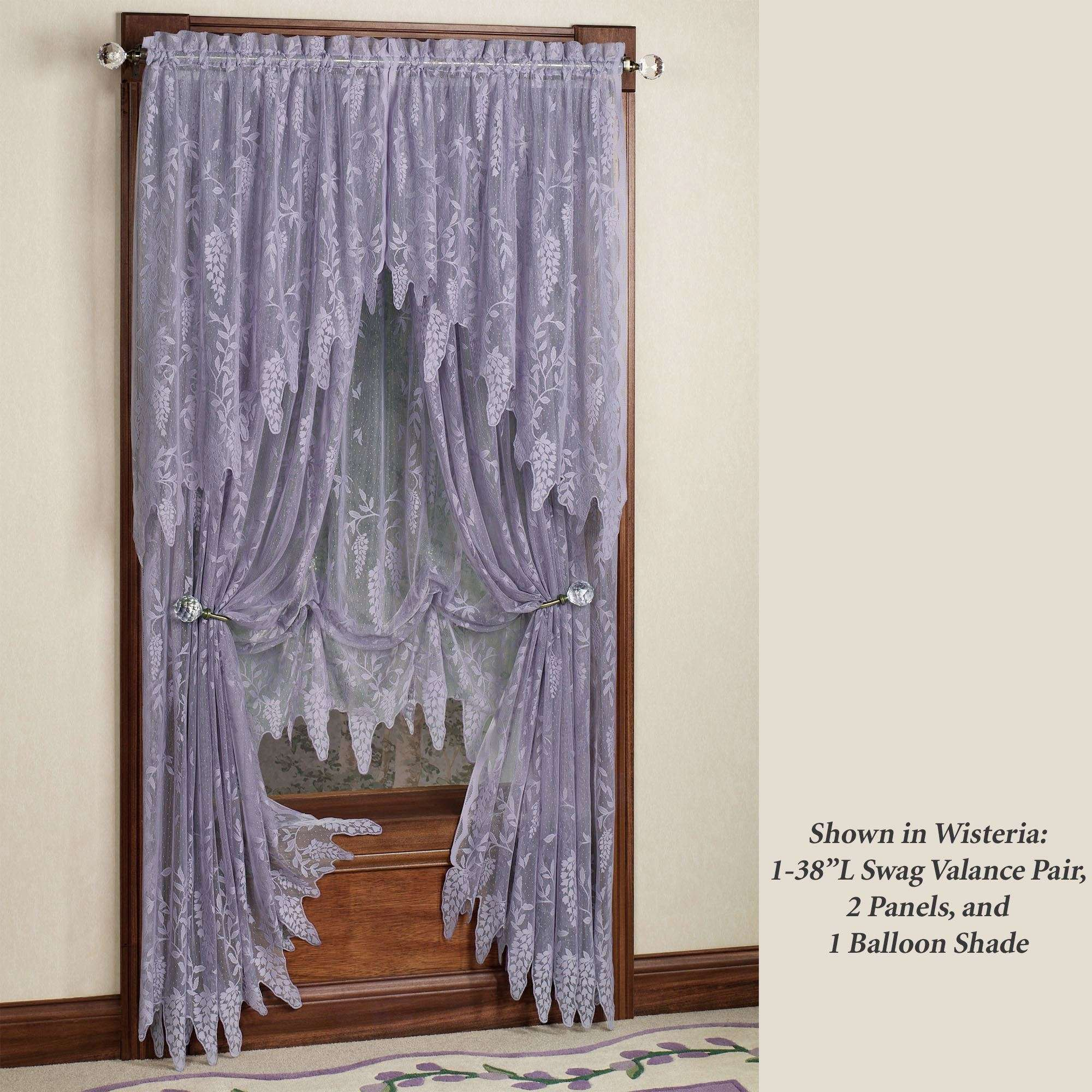 Curtains Lace Fabric Lac Sheer Nets Curtain Ideas Decorating Inside Luxurious Old World Style Lace Window Curtain Panels (View 19 of 20)