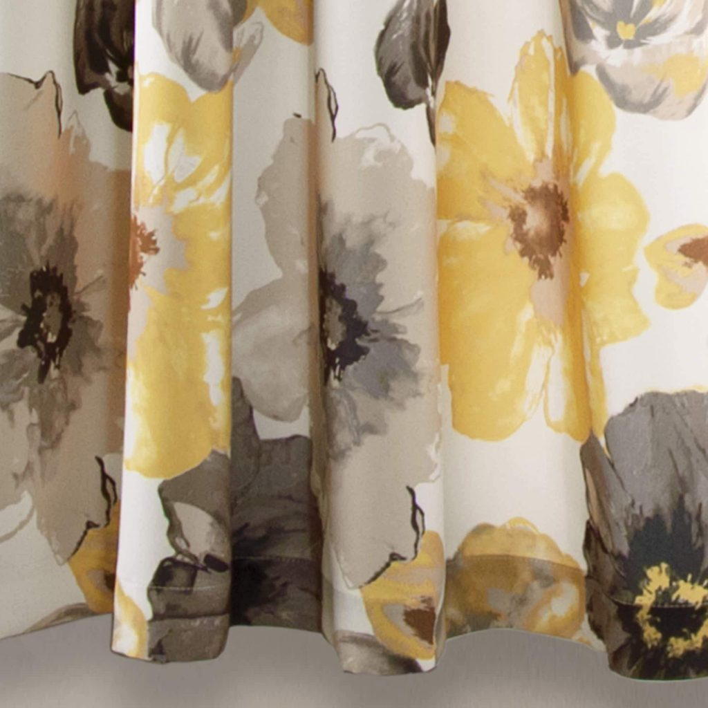 Curtains Panel Pair Blackout 2 Pcs Abstract Flower Design Colors Lush Decor Leah Home Within Leah Room Darkening Curtain Panel Pairs (View 17 of 20)