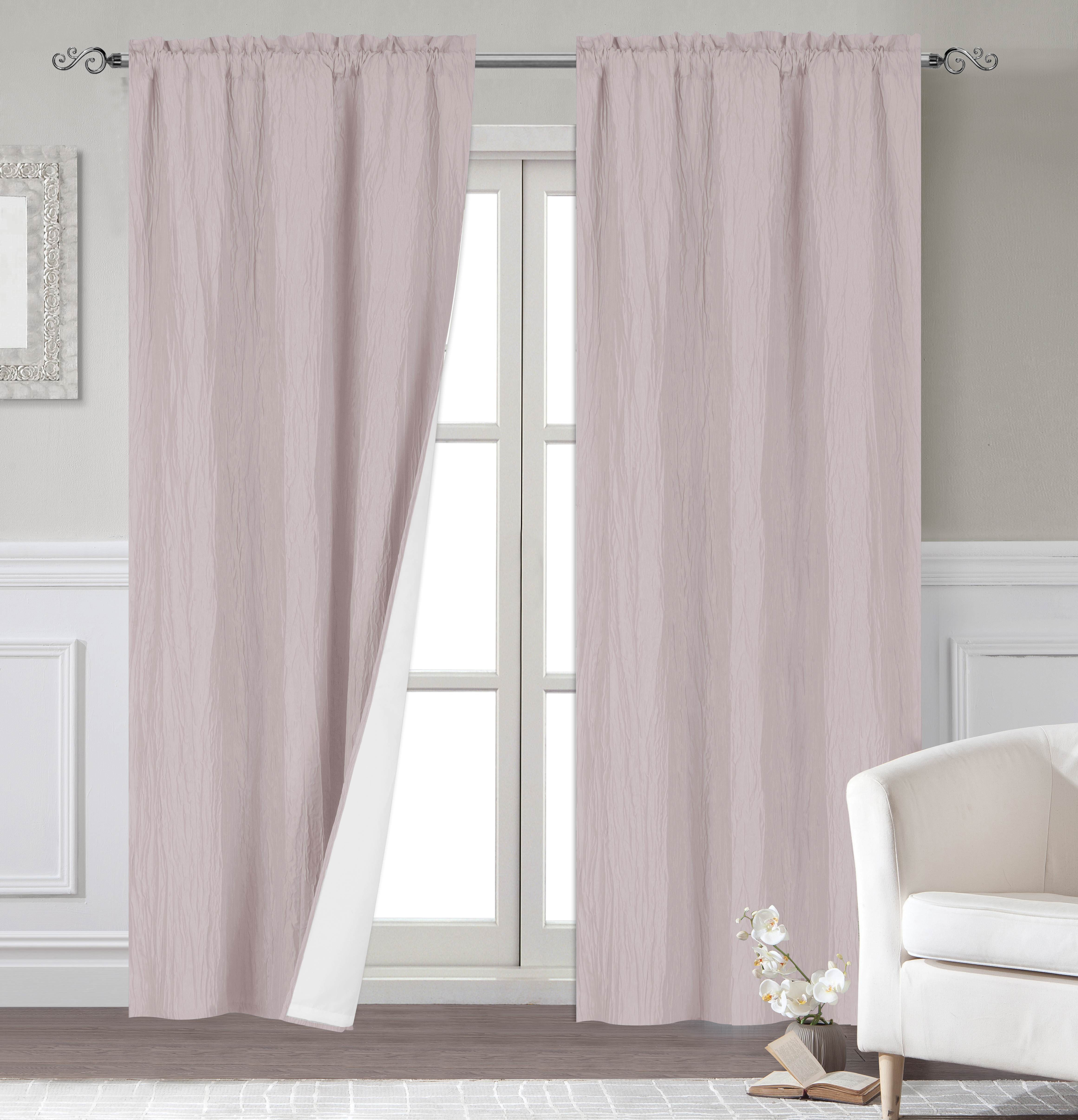 Dainty Home Venetian Blackout Window Curtain Panel Pair With Thermal Lining Pertaining To Thermal Rod Pocket Blackout Curtain Panel Pairs (View 21 of 30)
