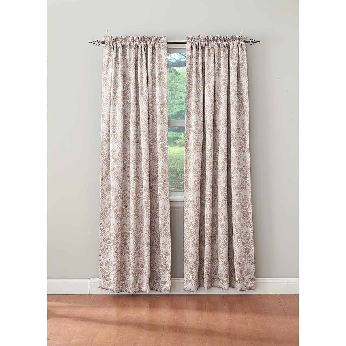Damask Blackout Rod Pocket Curtain Panel Intended For Rod Pocket Curtain Panels (View 14 of 20)