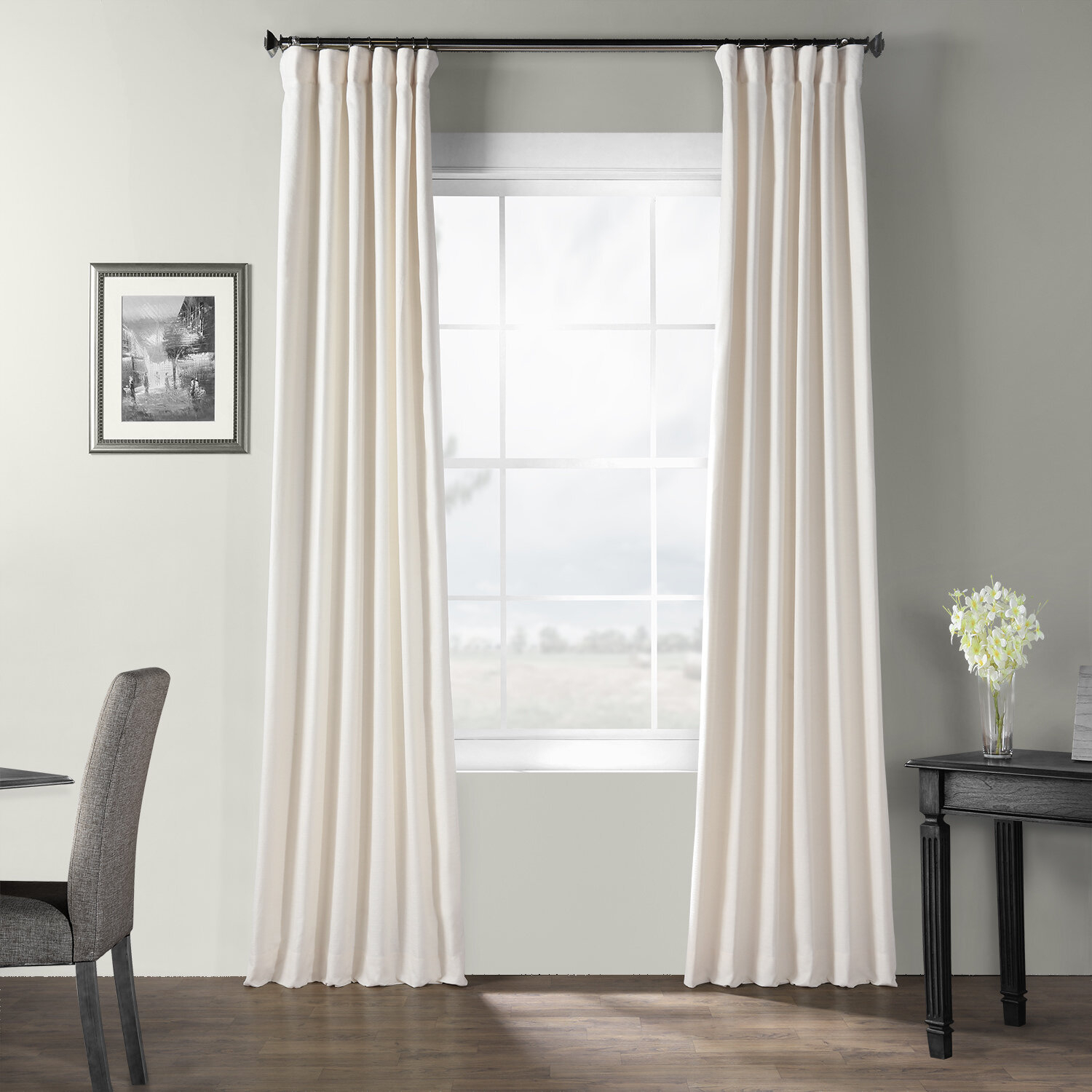 Dario Solid Cotton Textured Room Darkening Rod Pocket Single Curtain Panel With Solid Cotton Curtain Panels (View 14 of 30)
