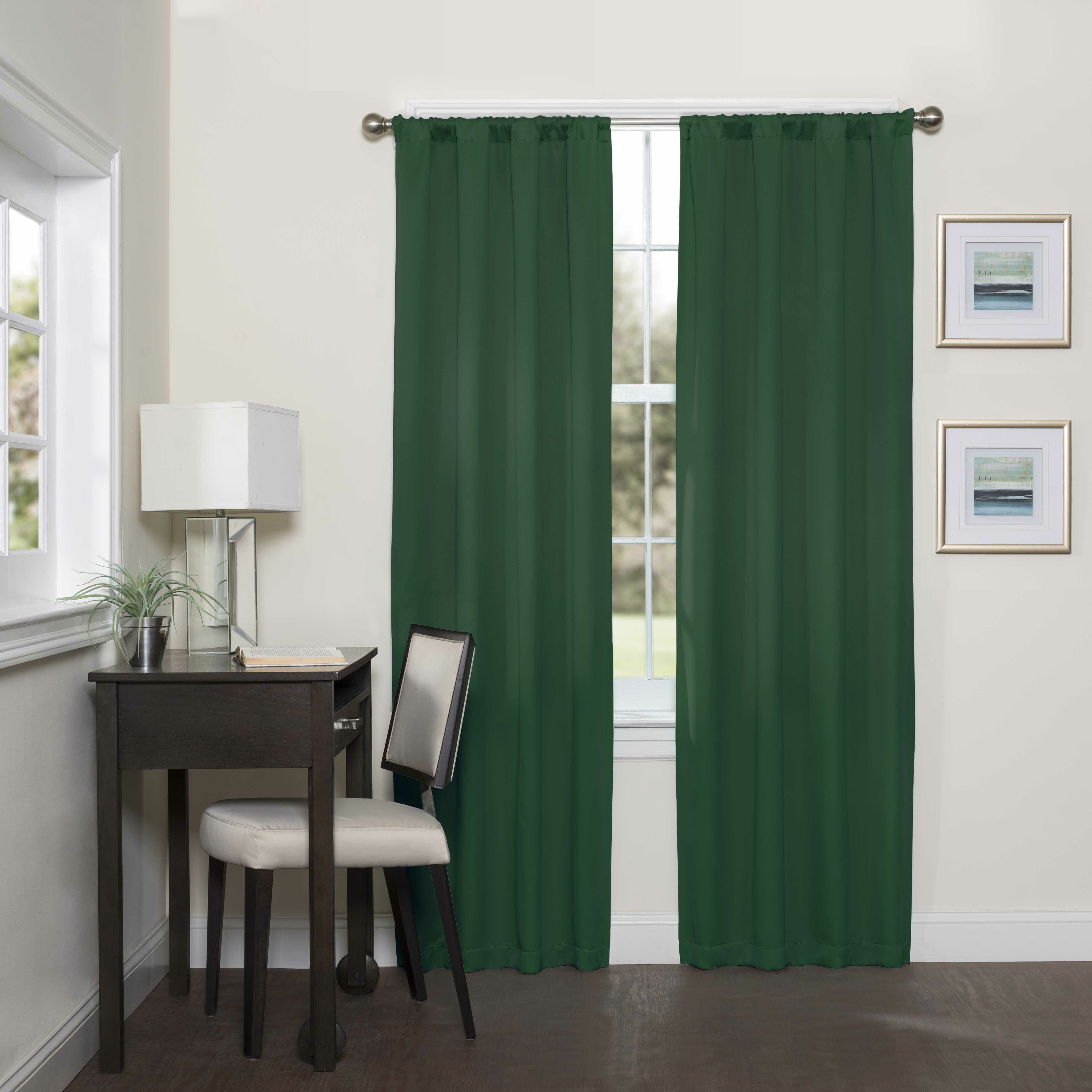 Darrah Solid Blackout Single Curtain Panel throughout Tacoma Double-Blackout Grommet Curtain Panels (Image 7 of 30)