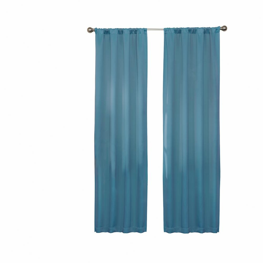 Darrell Blackout Window Curtain Panel In Sky – 37 In. W X 63 In (View 12 of 20)