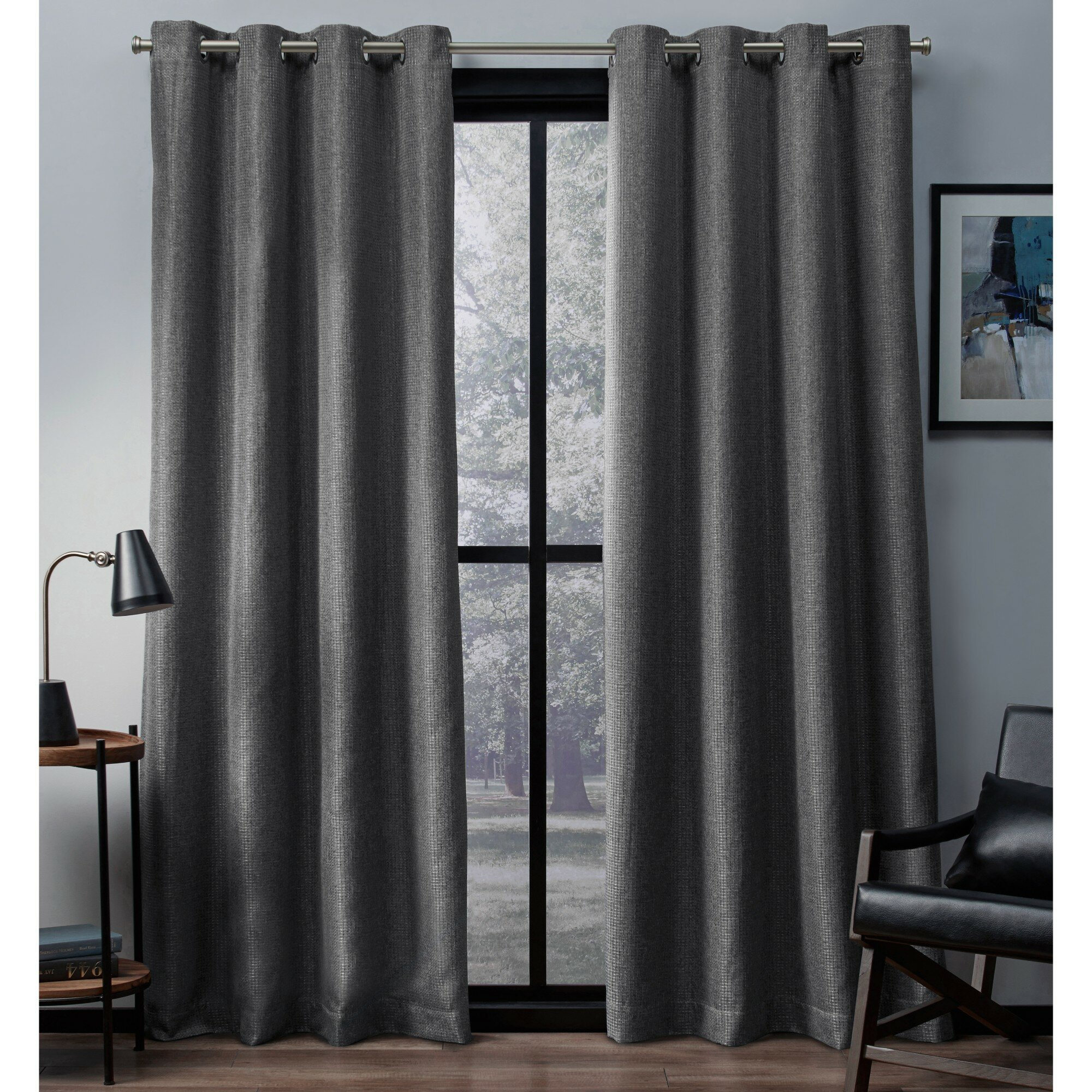 Dayse Solid Max Blackout Thermal Grommet Curtain Panels Throughout Cooper Textured Thermal Insulated Grommet Curtain Panels (View 17 of 20)