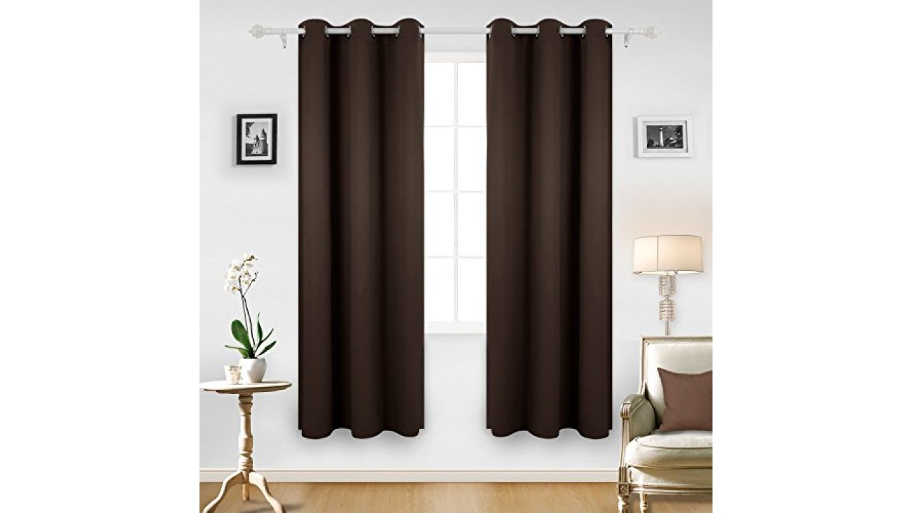 Deconovo Room Darkening Thermal Insulated Blackout Grommet With Thermal Insulated Blackout Grommet Top Curtain Panel Pairs (View 24 of 30)