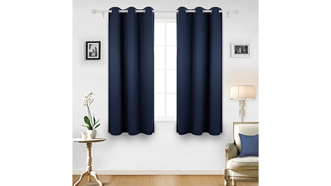Deconovo Room Darkening Thermal Insulated Blackout Grommet Within Thermal Insulated Blackout Grommet Top Curtain Panel Pairs (View 17 of 30)