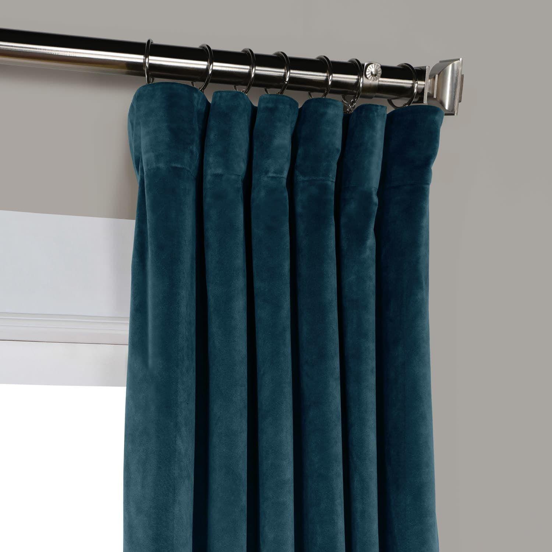 Deep Sea Teal Heritage Plush Velvet Curtain | Patterns Pertaining To Heritage Plush Velvet Curtains (View 13 of 20)