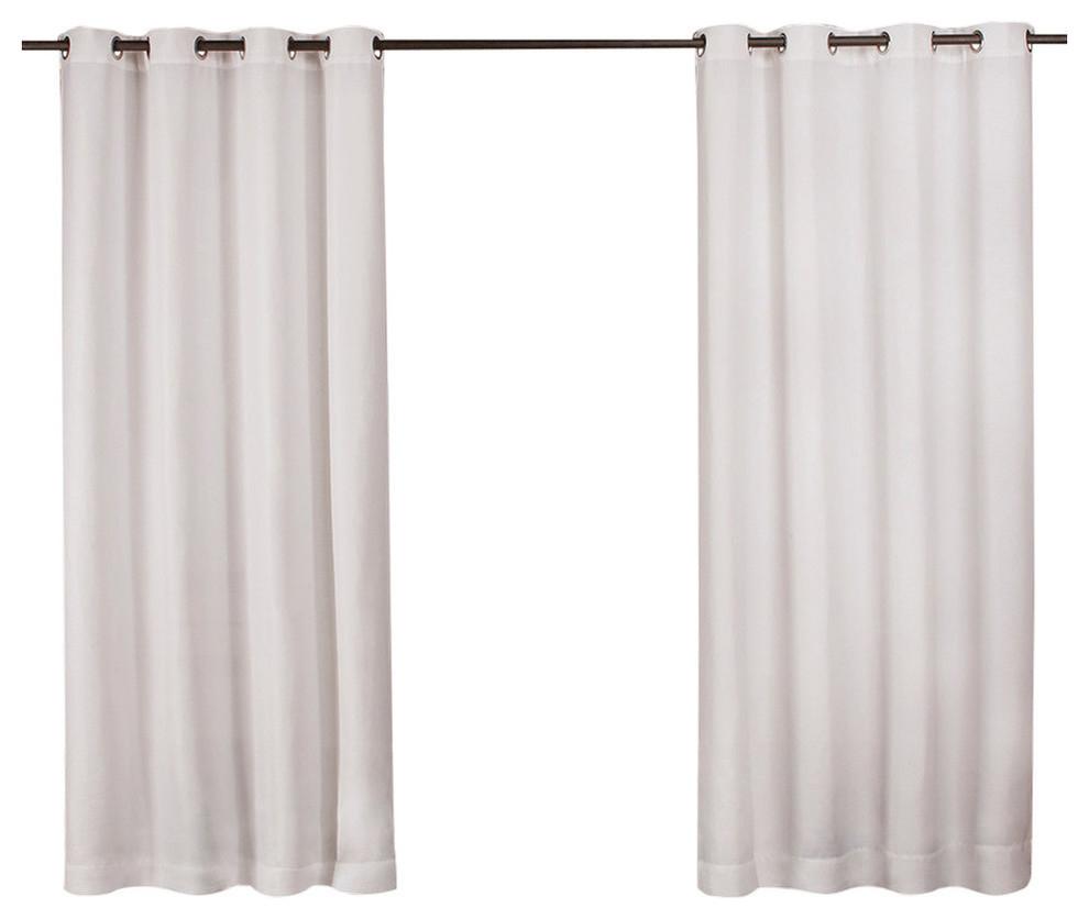 "Delano Indoor/outdoor Heavy Grommet Top Curtains, 54""x84"", White, Set Of 2 With Indoor/outdoor Solid Cabana Grommet Top Curtain Panel Pairs (View 9 of 20)"