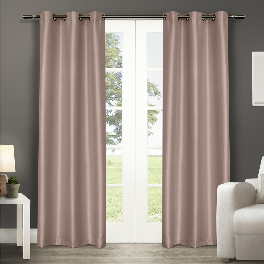 Design Decor 84 In Blush Polyester Grommet Blackout Thermal Lined Single Curtain Panel For Single Curtain Panels (View 17 of 31)