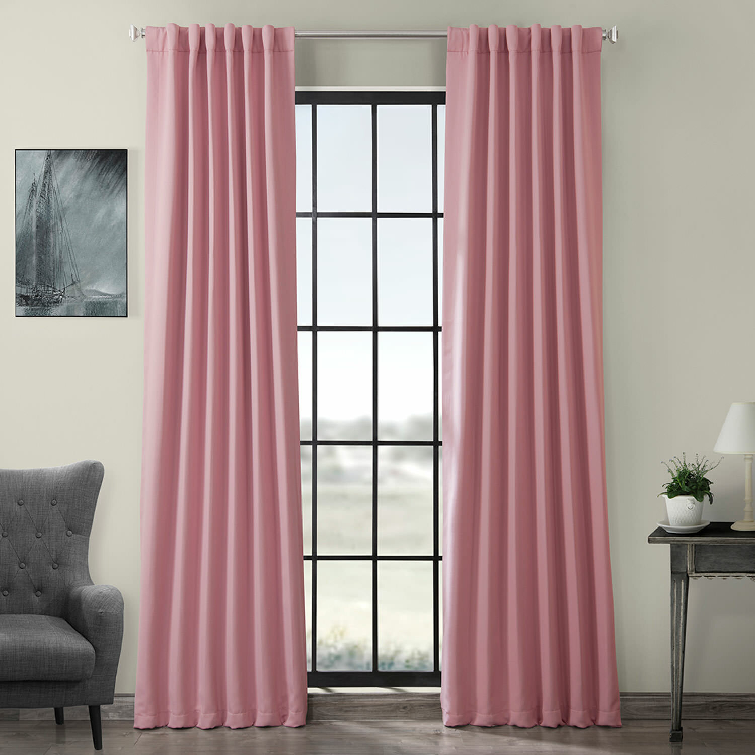 Destinie Indoor Solid Color Blackout Curtain Rod Pocket Panel Pair With Thermal Rod Pocket Blackout Curtain Panel Pairs (View 9 of 30)