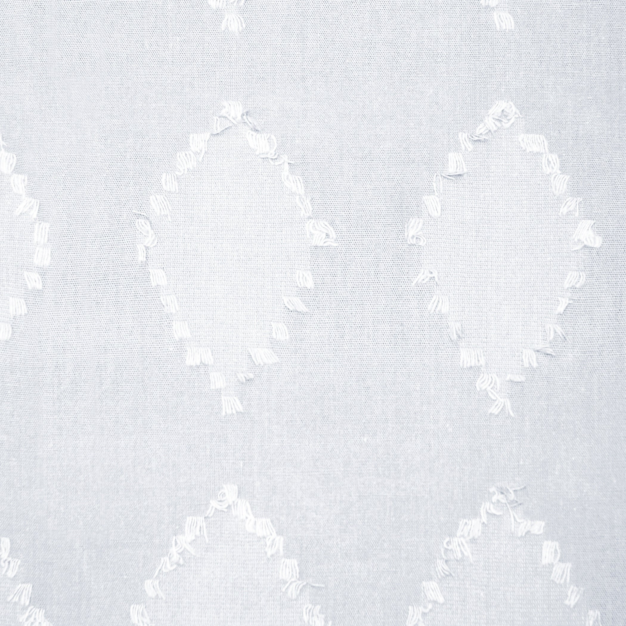 Details About Archaeo Diamond Fray Cotton Single Curtain Panel Throughout Archaeo Washed Cotton Twist Tab Single Curtain Panels (View 10 of 20)