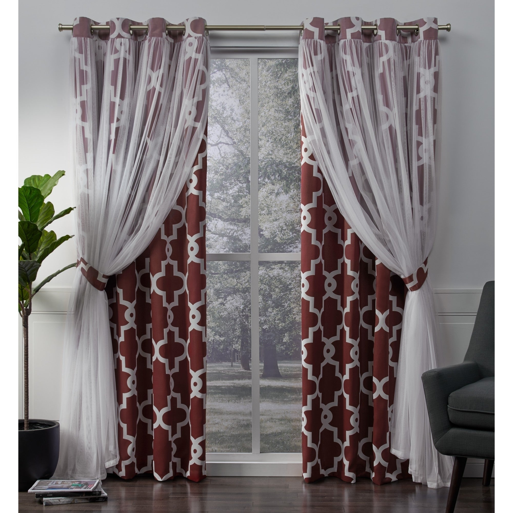Details About Ati Home Alegra Thermal Woven Blackout Grommet Top Curtain In Woven Blackout Grommet Top Curtain Panel Pairs (View 4 of 30)