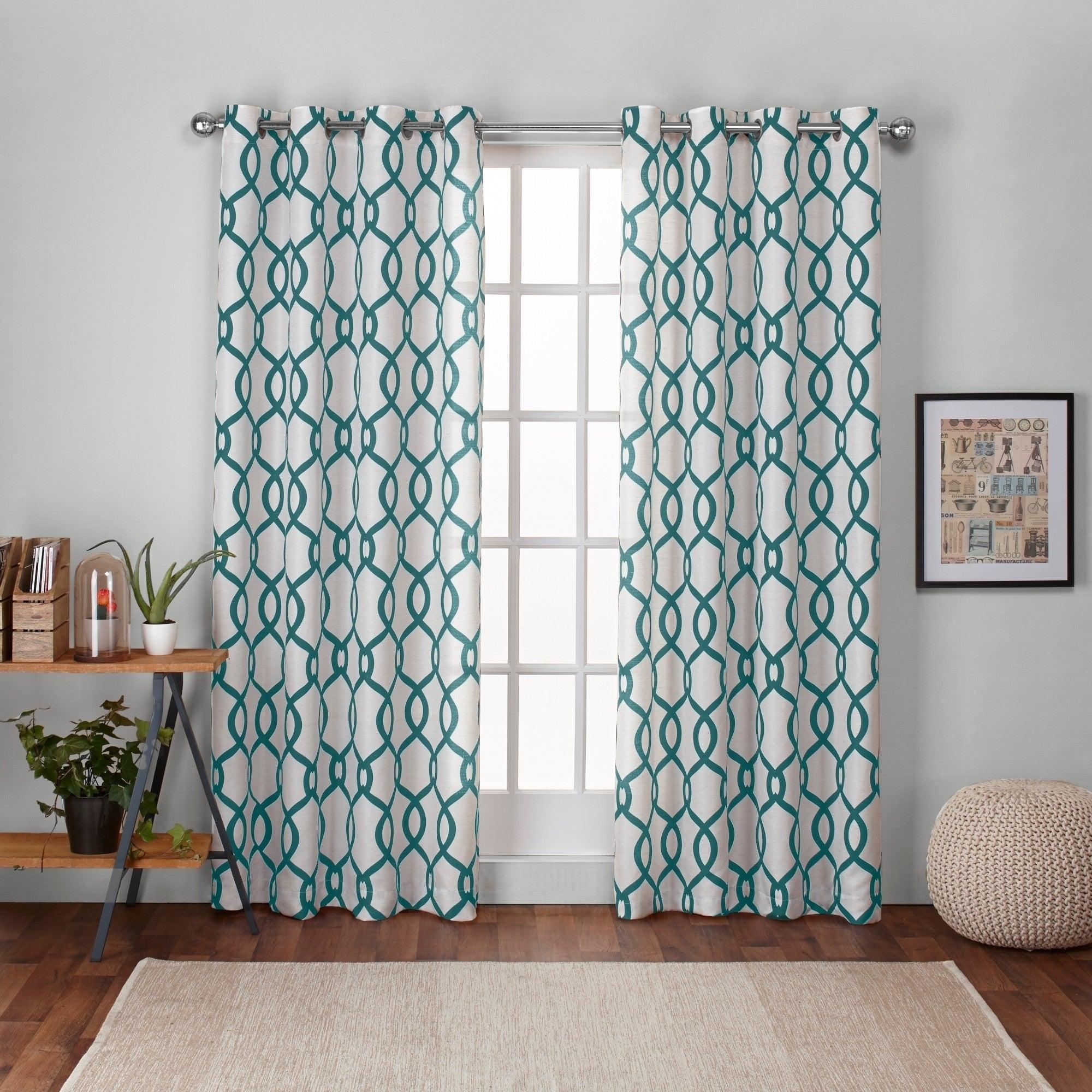 Details About Ati Home Kochi Linen Blend Window Grommet Top Curtain Panel Pair Within Velvet Heavyweight Grommet Top Curtain Panel Pairs (View 16 of 30)