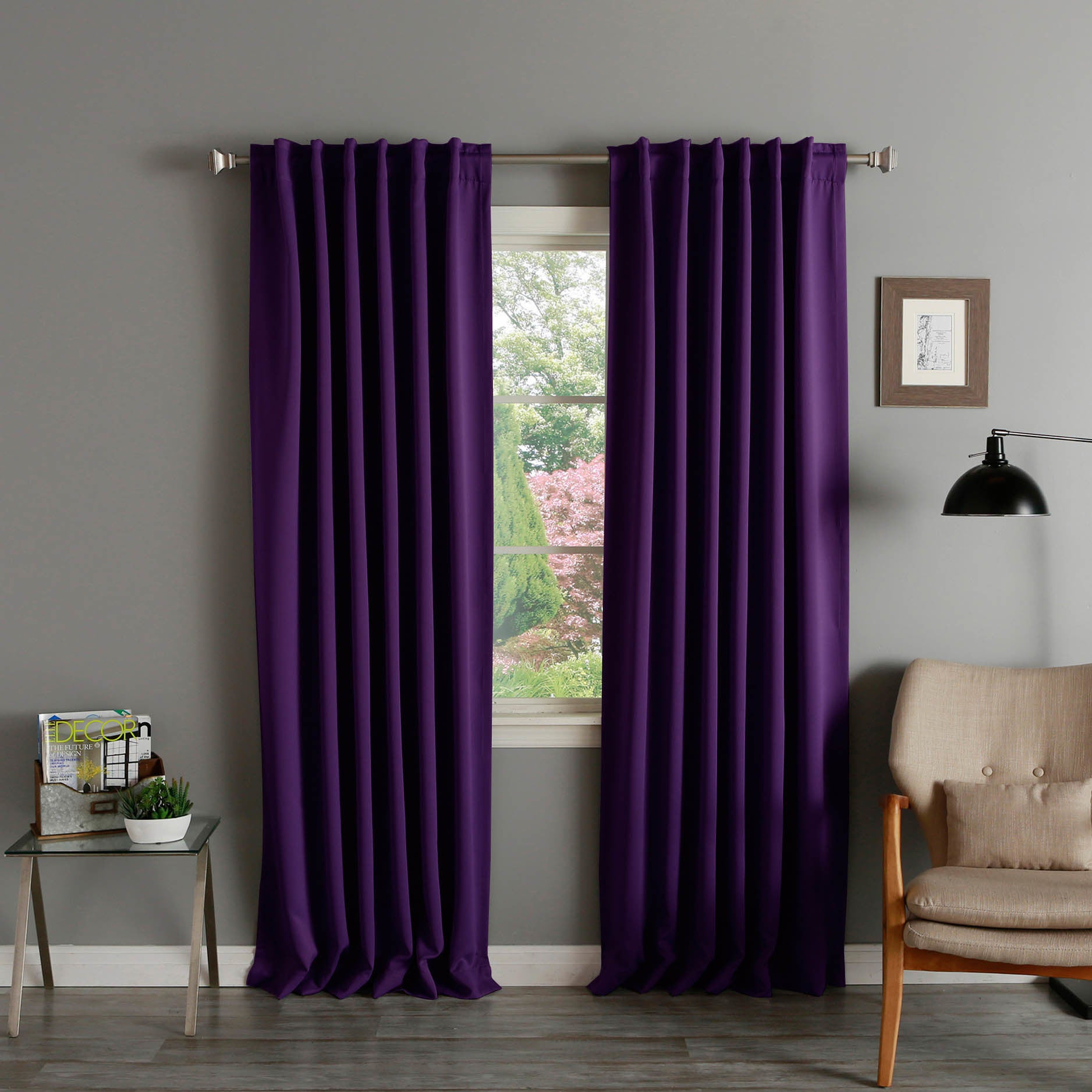 Details About Aurora Home Solid Insulated Thermal Blackout 120 Inch Curtain Panel Pair With Solid Thermal Insulated Blackout Curtain Panel Pairs (View 10 of 30)