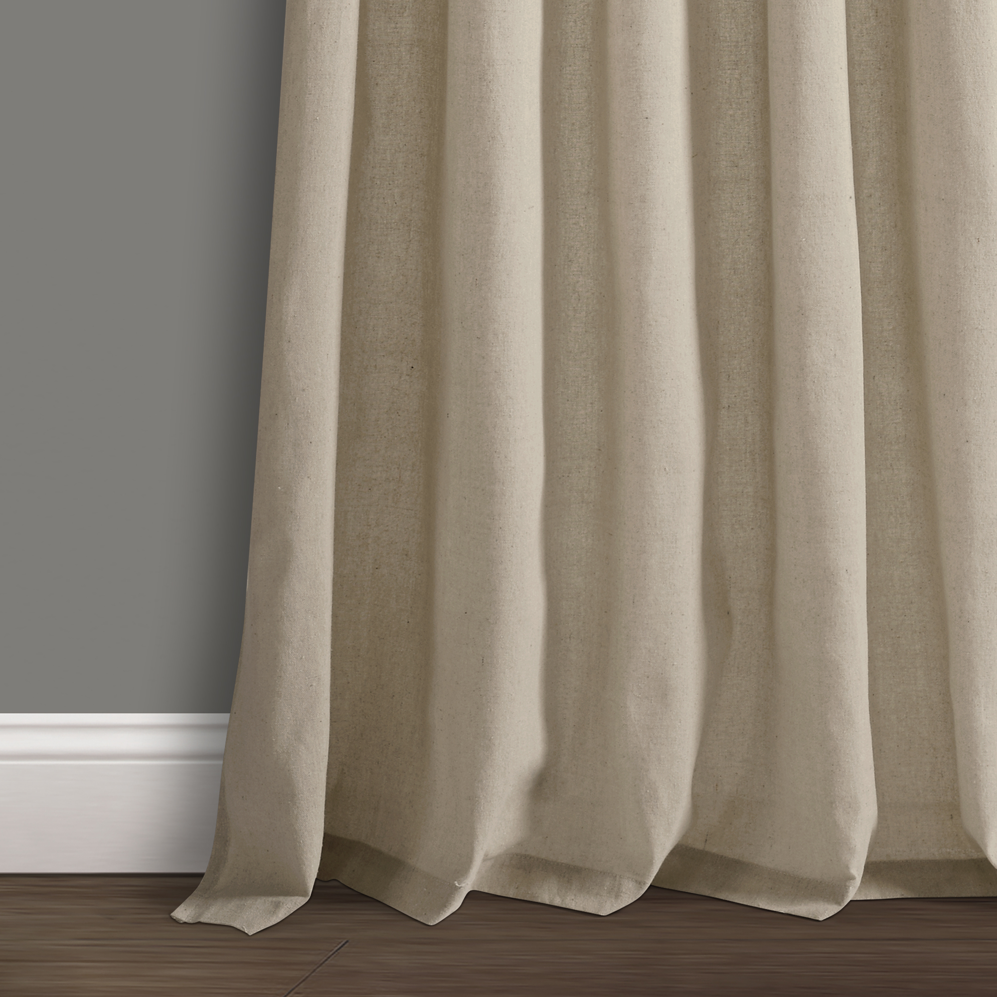 Details About Burlap Knotted Tab Top Window Curtain Panels Dark Linen Pair 45x84 Set Inside Knotted Tab Top Window Curtain Panel Pairs (View 7 of 20)