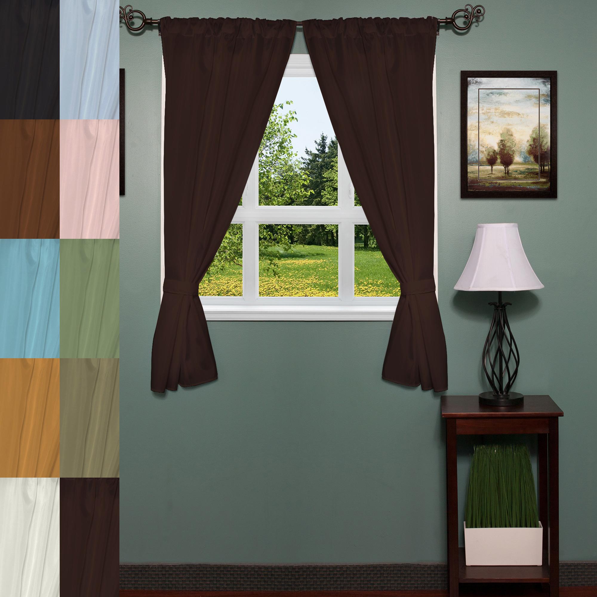 "Details About Classic Hotel Quality 36""w X 54""l Fabric Bathroom Window Curtain Set W/tiebacks With Classic Hotel Quality Water Resistant Fabric Curtains Set With Tiebacks (View 9 of 20)"