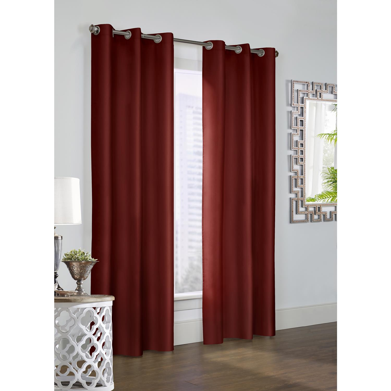 Details About Commonwealth Thermalogic Prescott Alcove Grommet Top Curtain Panel Pair For Caldwell Curtain Panel Pairs (View 3 of 20)