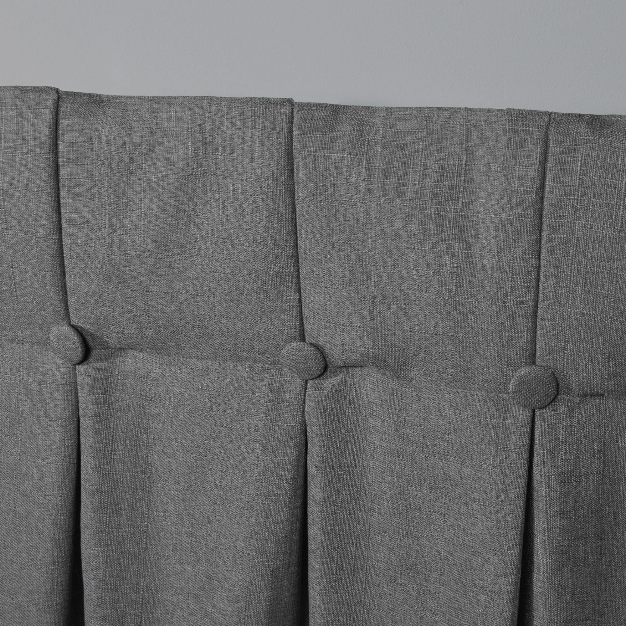 Details About Copper Grove Popovo Linen Button Top Window Curtain Panel Regarding Copper Grove Fulgence Faux Silk Grommet Top Panel Curtains (View 11 of 20)