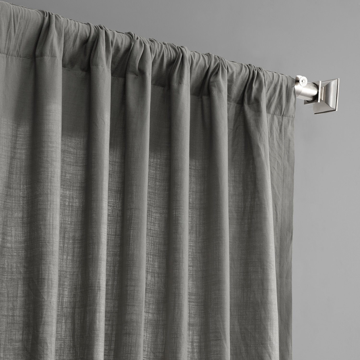 Details About Country Cotton Linen Weave Curtains (sold Per Panel) In Solid Country Cotton Linen Weave Curtain Panels (View 21 of 30)