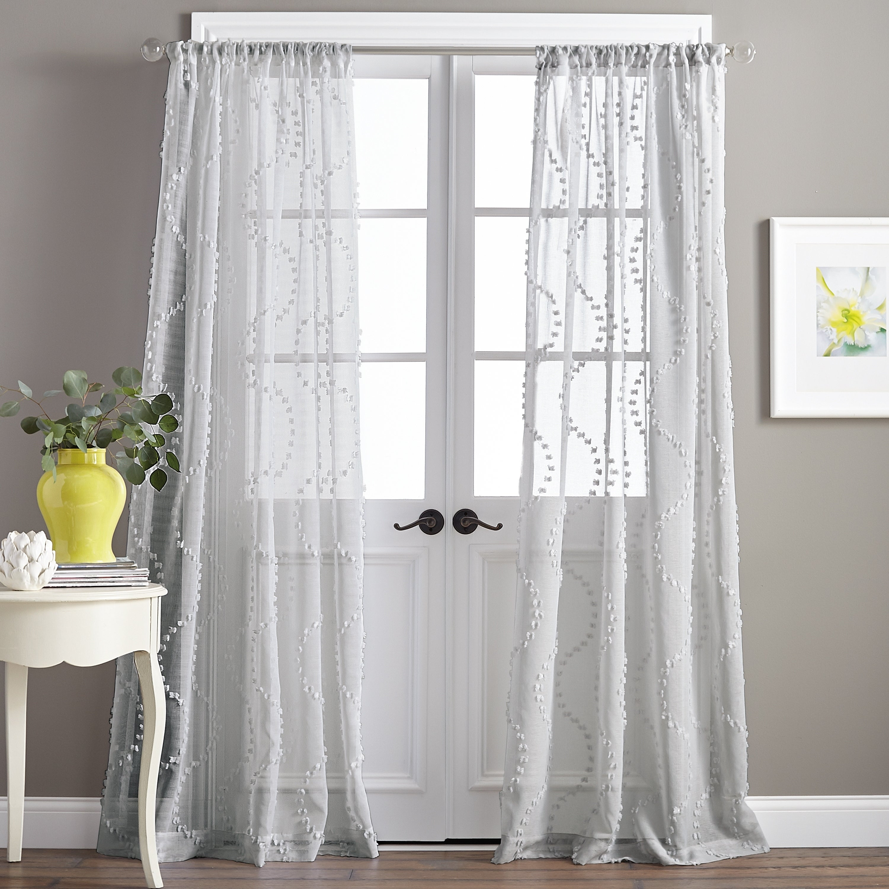 Details About Dixon Wave Sheer Single Curtain Panel With Single Curtain Panels (View 14 of 31)