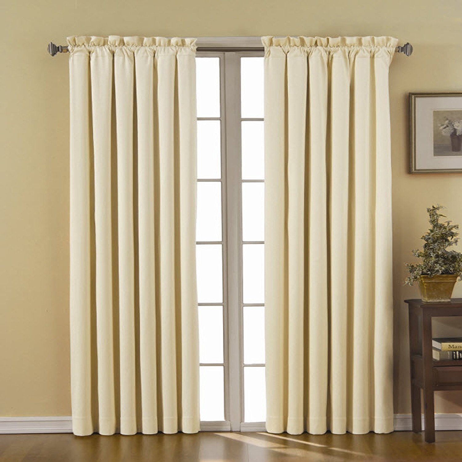 Details About Eclipse Canova 42 Inch84 Inch Thermaback Blackout Panel, Ivory , New, Free S Within Thermaback Blackout Window Curtains (View 3 of 30)