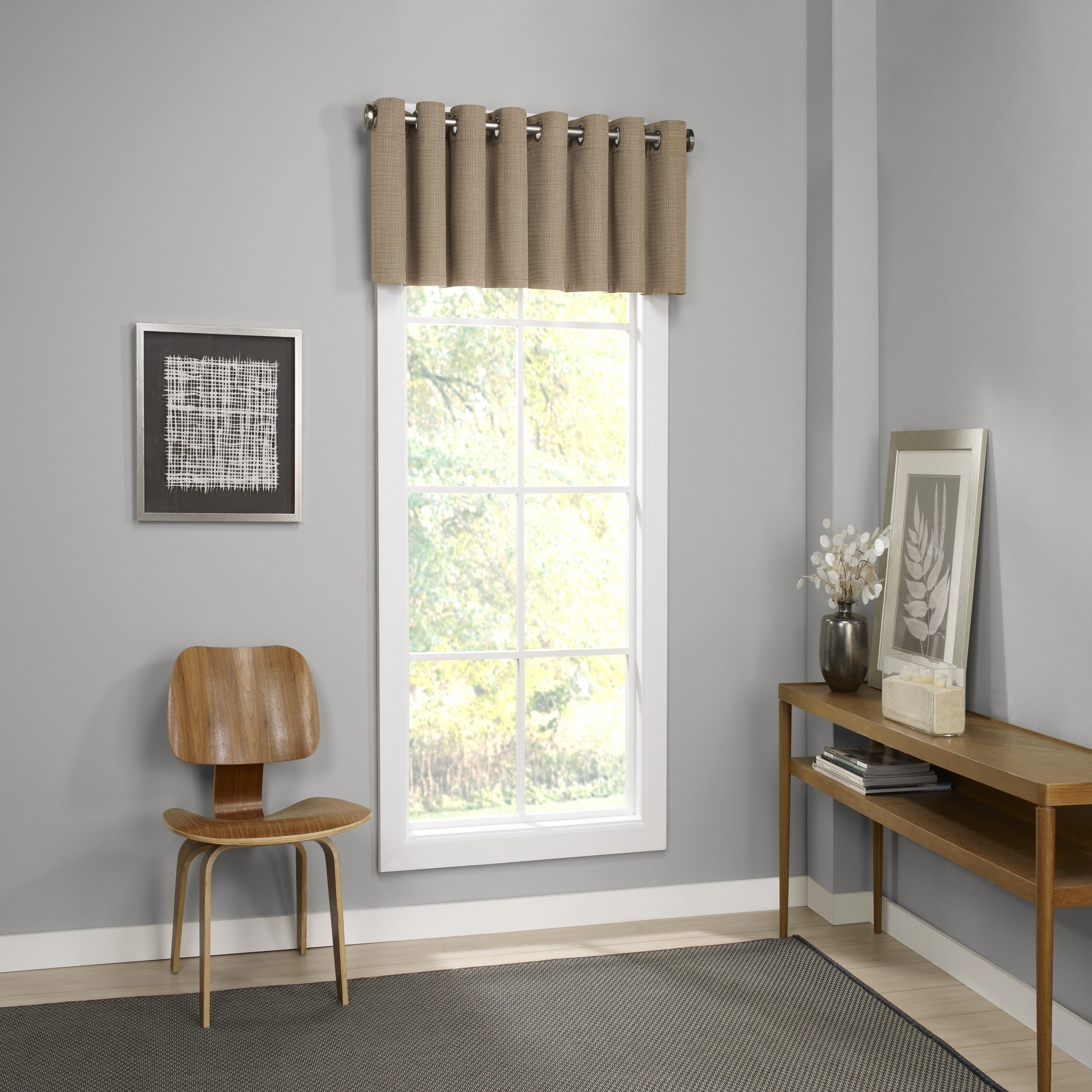 Details About Eclipse Palisade Blackout Grommet Window Valance – 52x18 For Eclipse Trevi Blackout Grommet Window Curtain Panels (View 19 of 20)