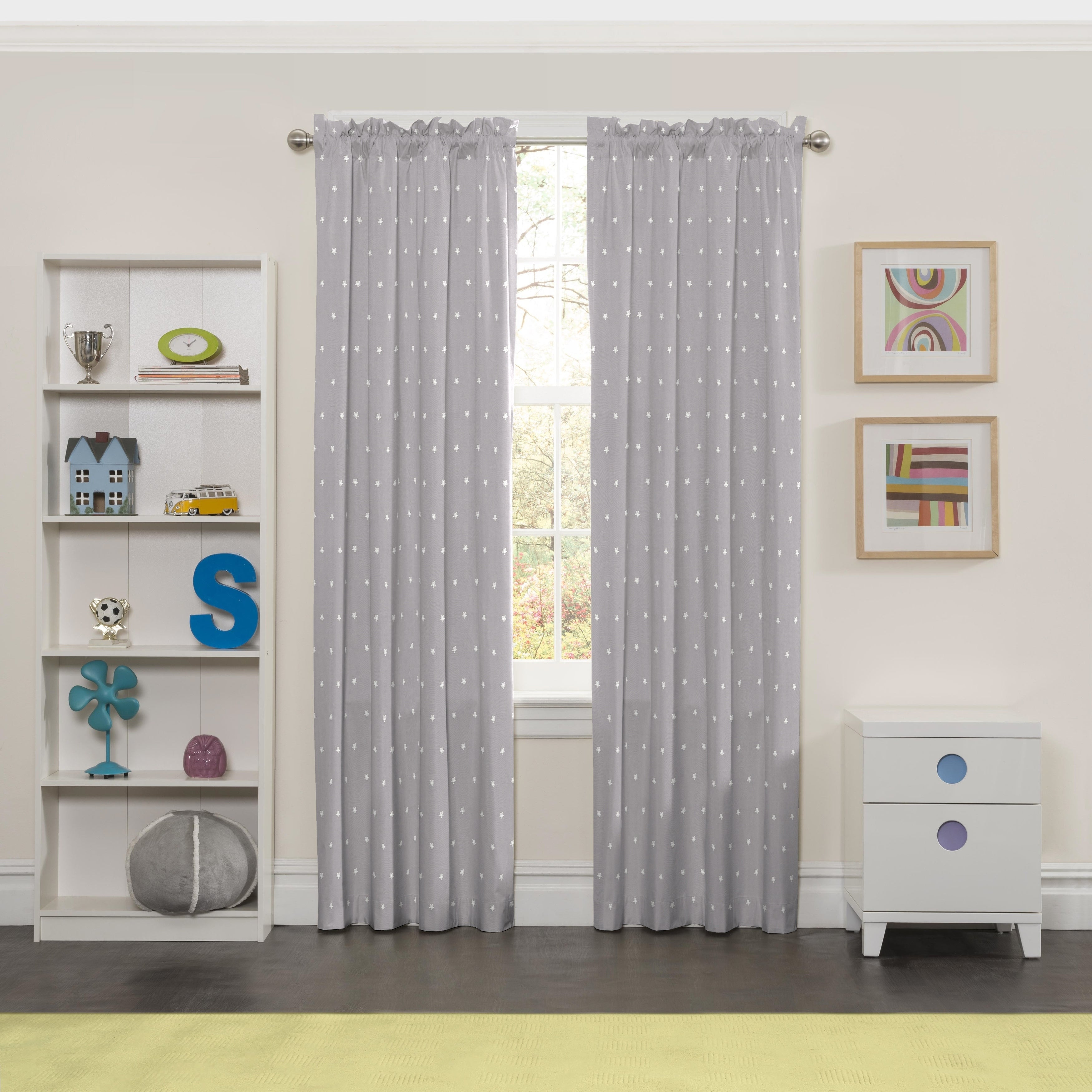 Details About Eclipse Super Star Blackout Window Curtain Panel With Eclipse Darrell Thermaweave Blackout Window Curtain Panels (View 8 of 20)