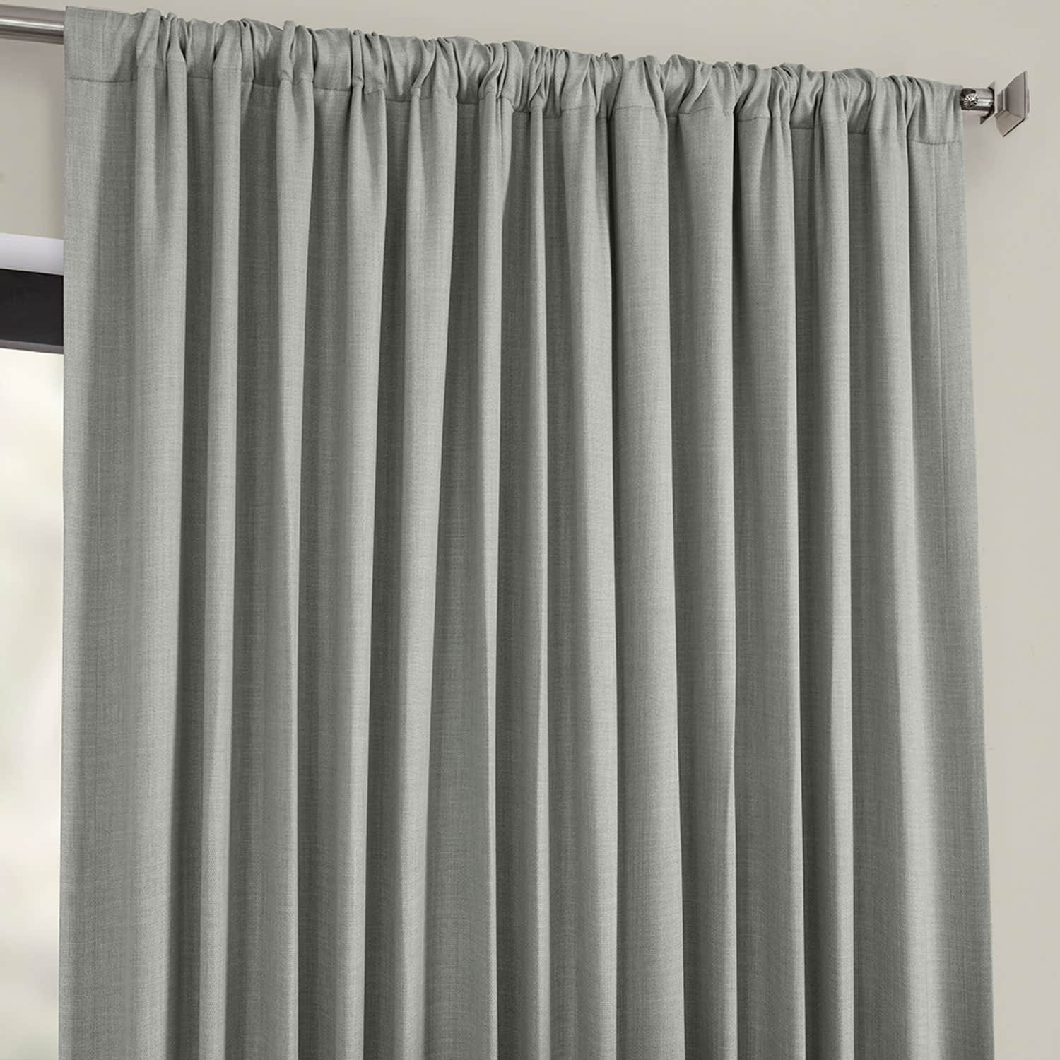 Details About Extra Wide Faux Linen Blackout Curtains (sold With Faux Linen Extra Wide Blackout Curtains (View 4 of 20)