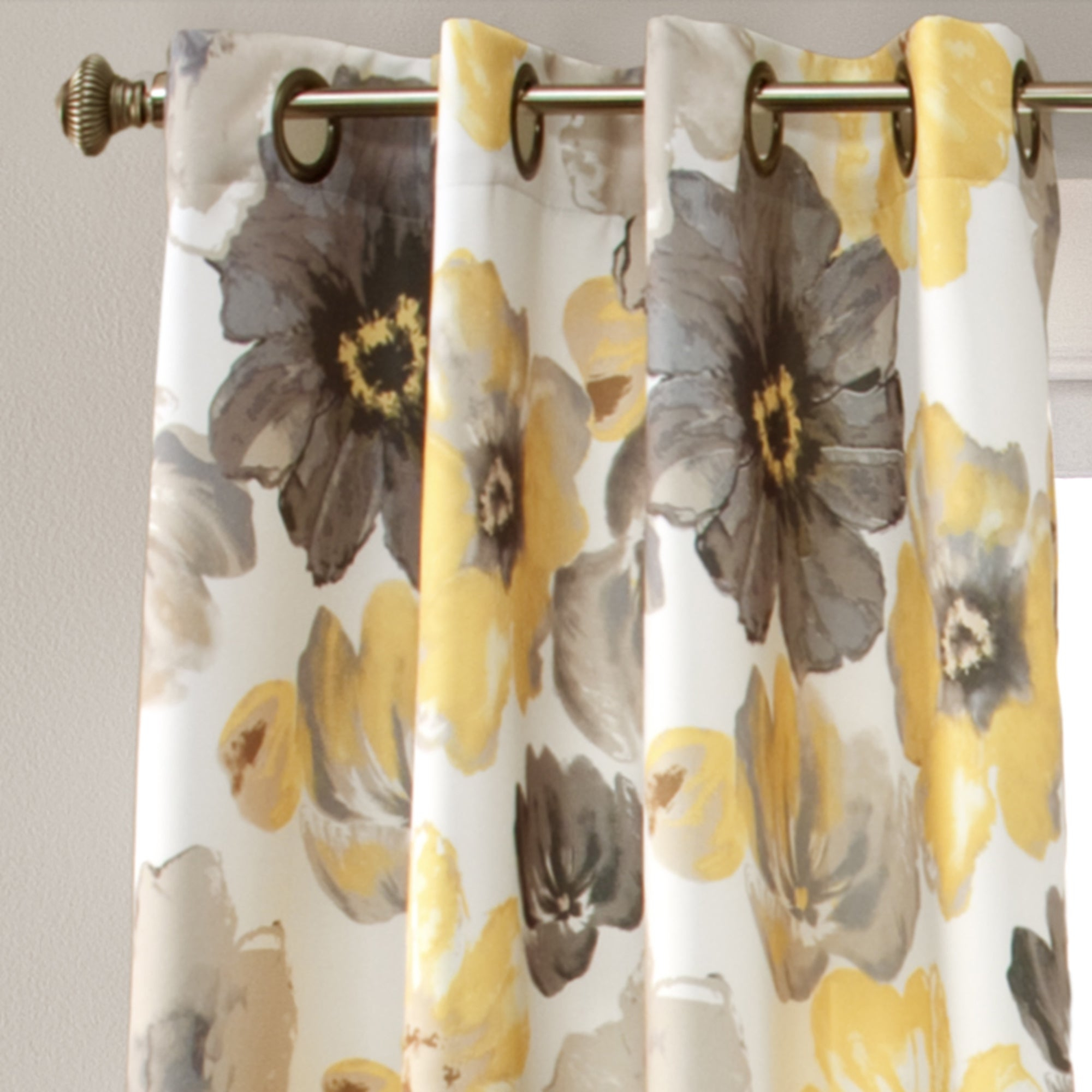 Details About Lush Decor Leah Room Darkening Curtain Panel Pair In Leah Room Darkening Curtain Panel Pairs (View 5 of 20)